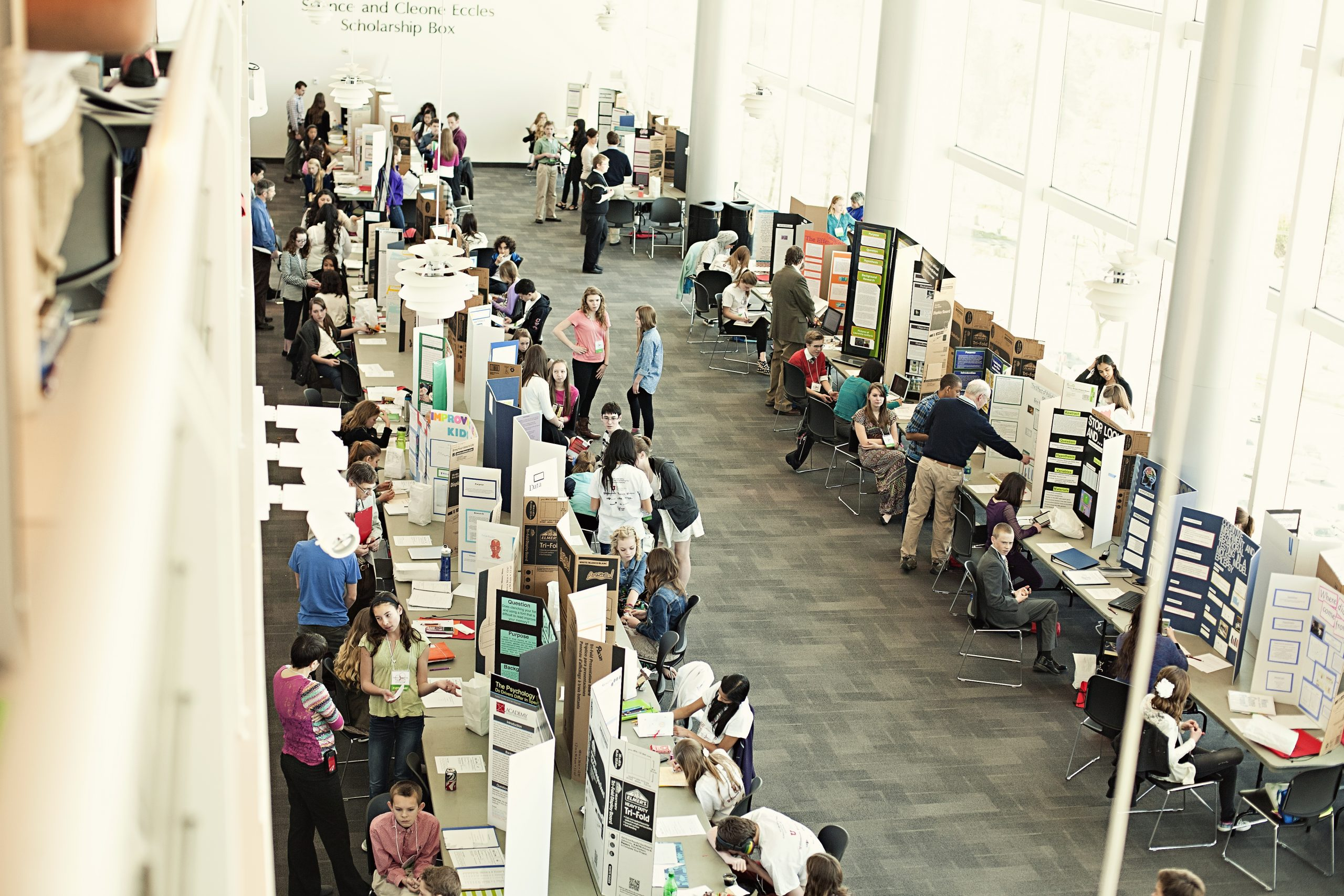 Students present their research at the 2014 Salt Lake Valley Science and Engineering Fair.