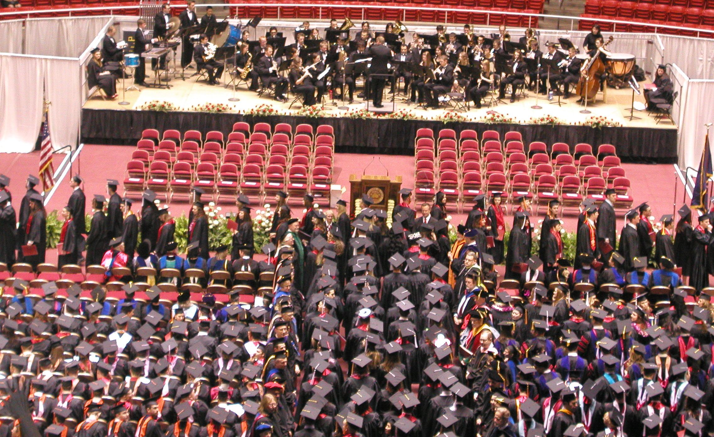Student procession at 2010 U of U commencement ceremony. The U will confer over 8,000 degrees at this year's commencement, scheduled for May 6, 2011.