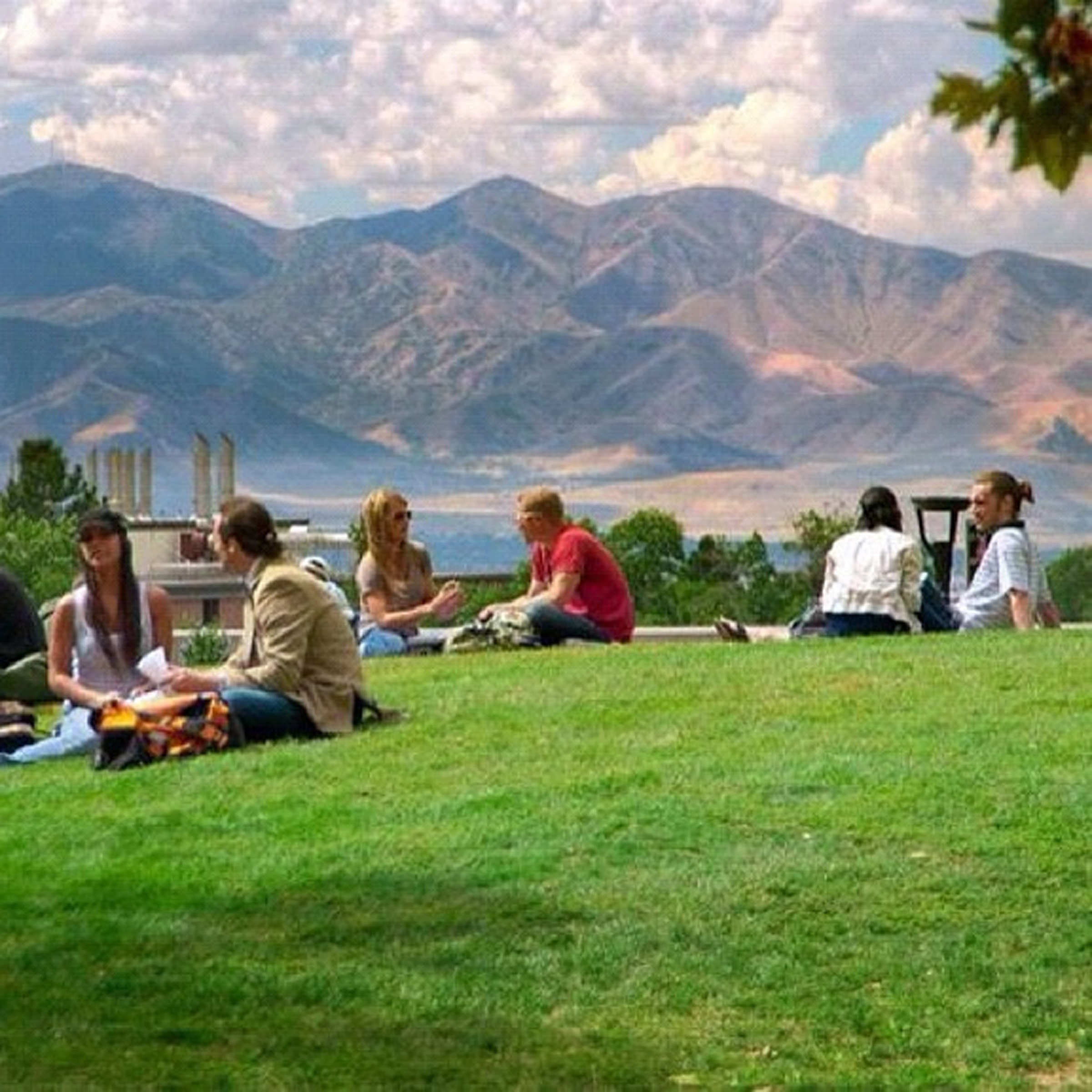 Students on the University of Utah campus.