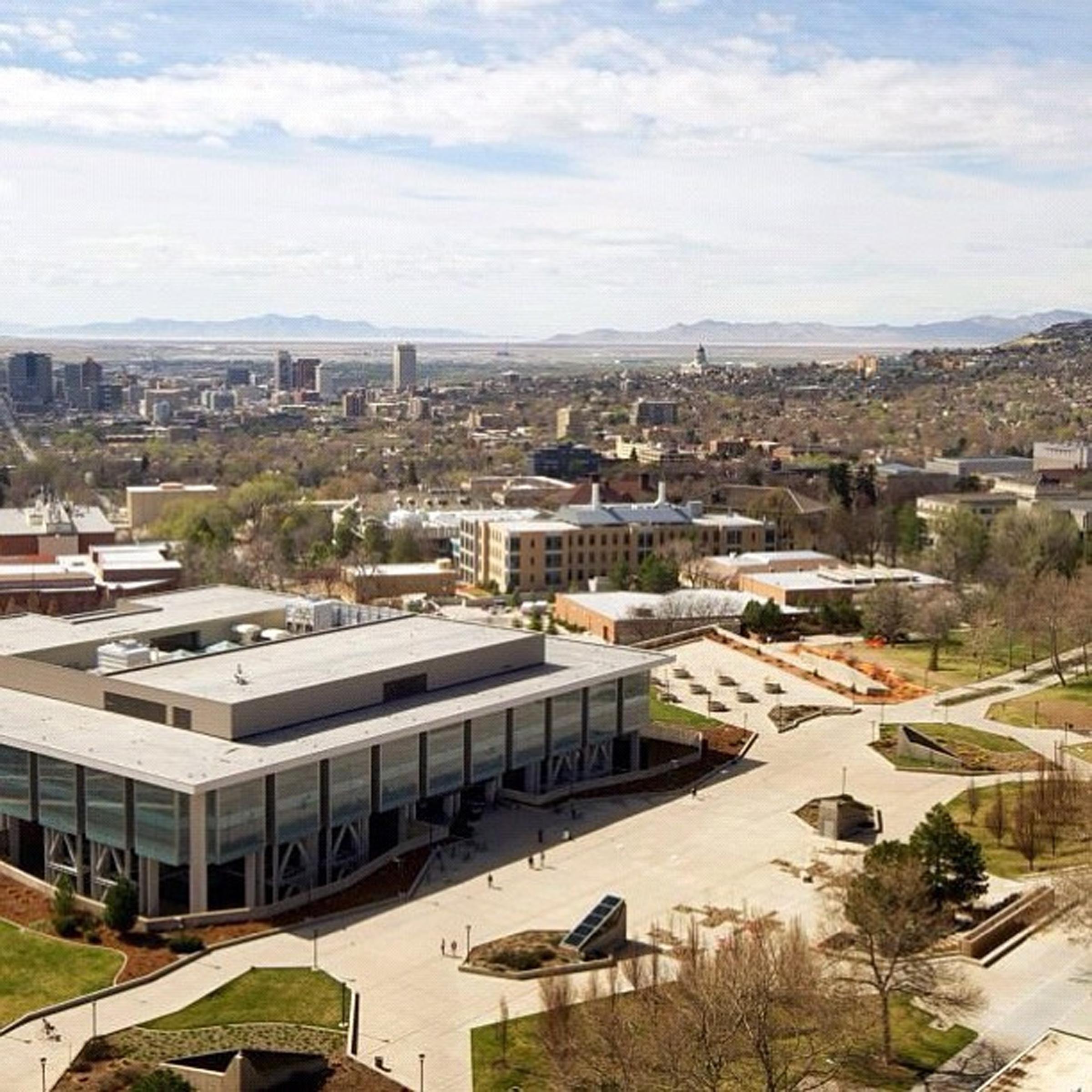 University of Utah campus and Salt Lake City.