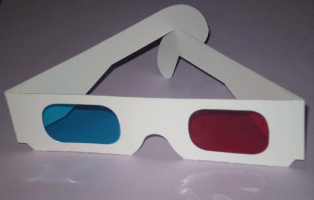 3-D glasses.