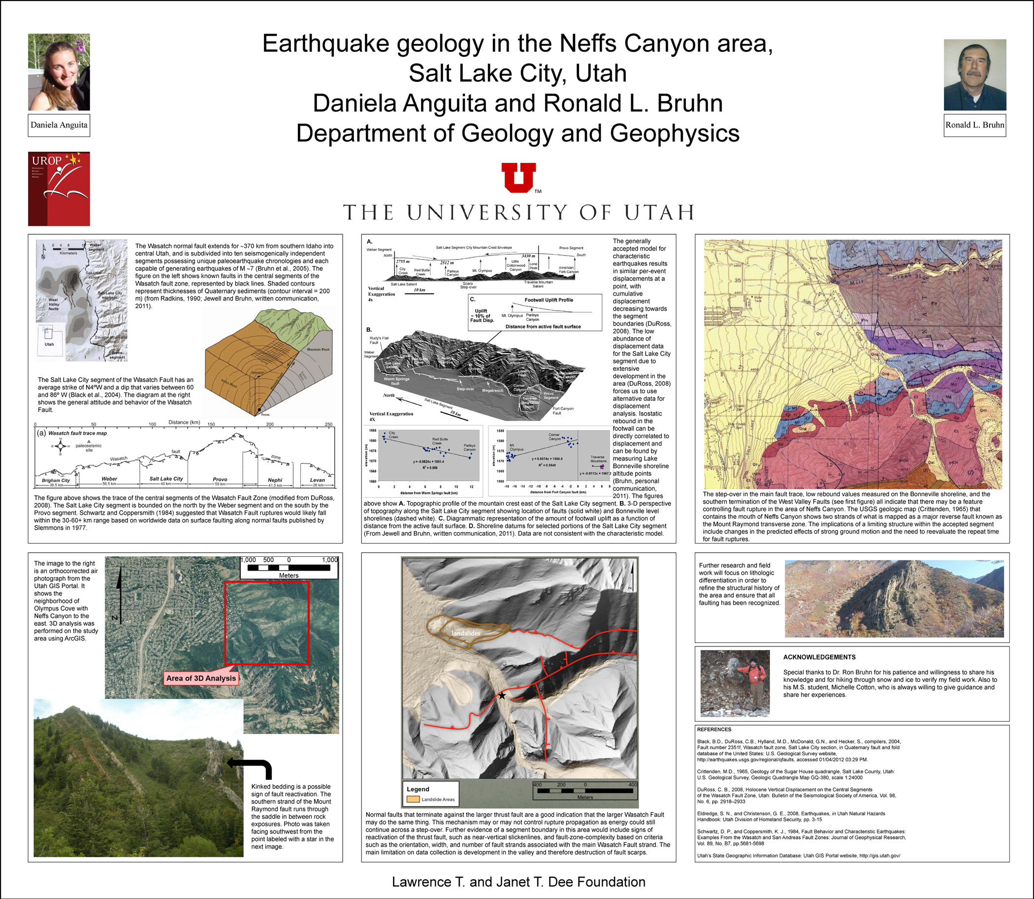 Wasatch Fault Structural Mapping in the area of Neffs Canyon, Salt Lake City, UT.