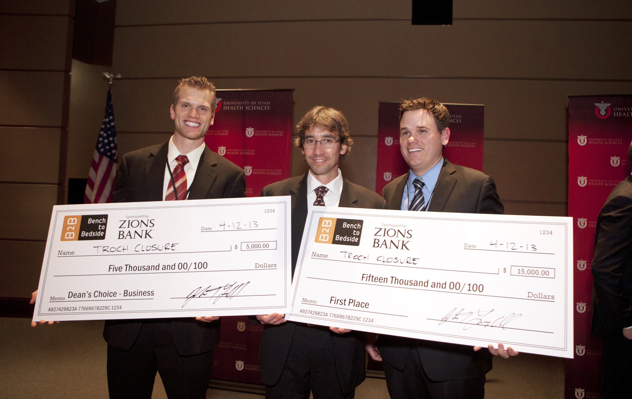 Team Troclosure won $20,000 at the third annual Bench-2-Bedside competition at the University of Utah.