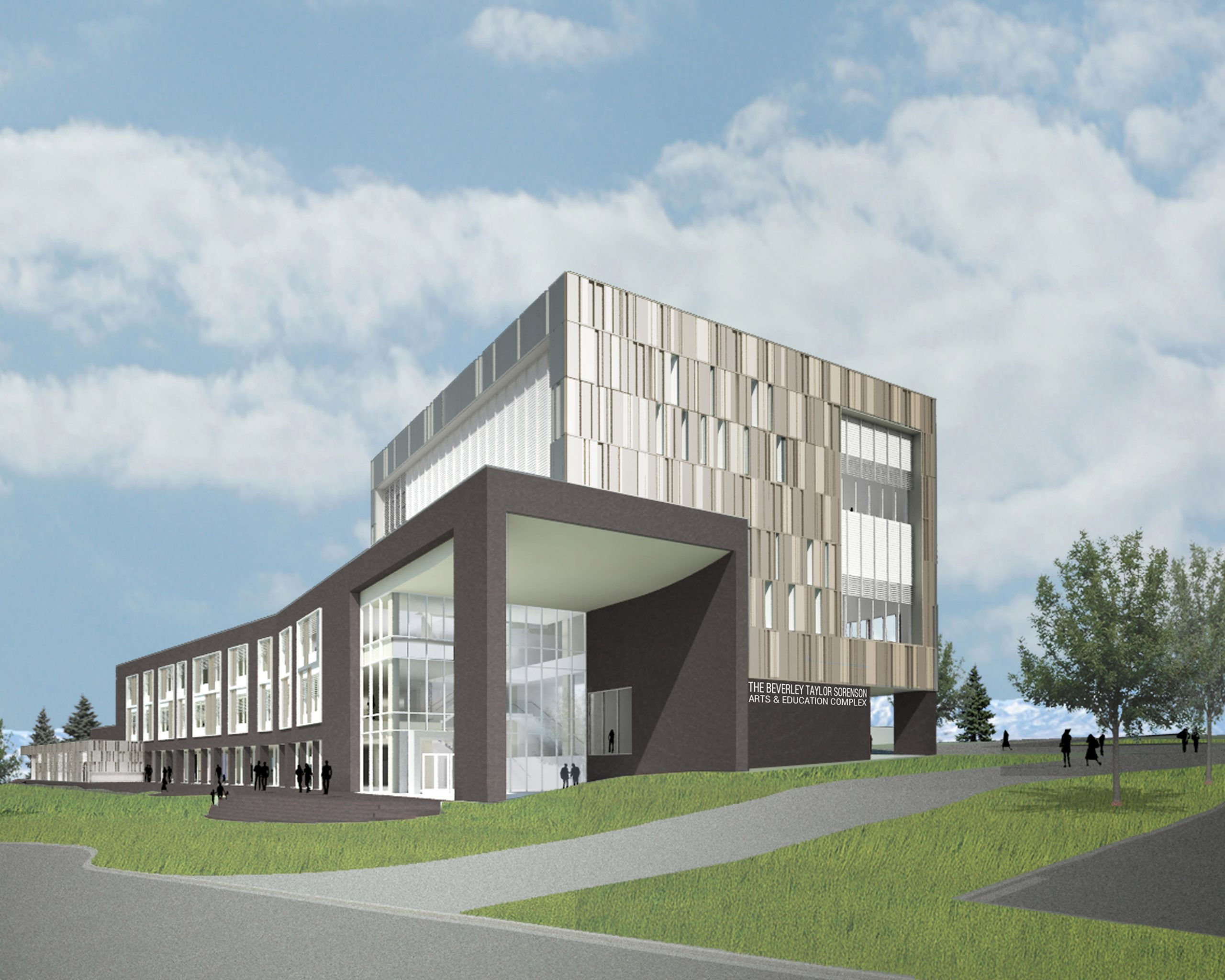 Beverly Taylor Sorenson Arts & Education Complex Exterior Rendering