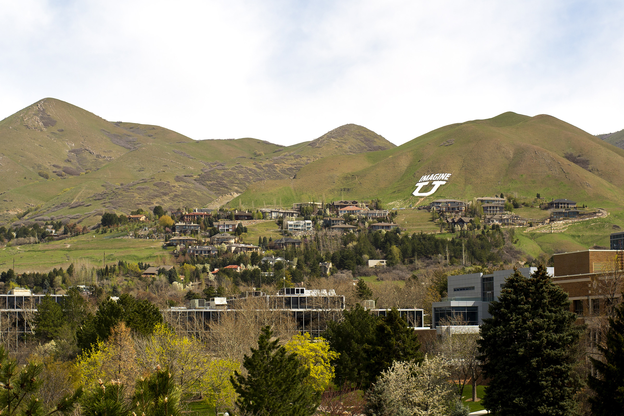 """Imagine U"" on the hillside."