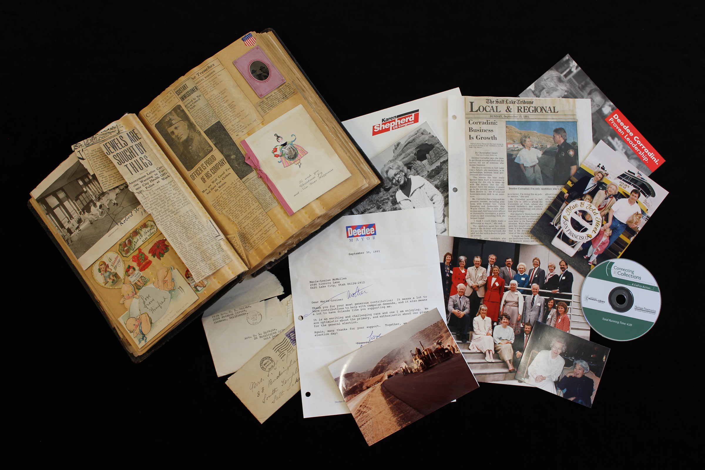 Items contained in the Aileen H. Clyde 20th Century Women's Legacy Archive representing numerous notable women from Utah and the region