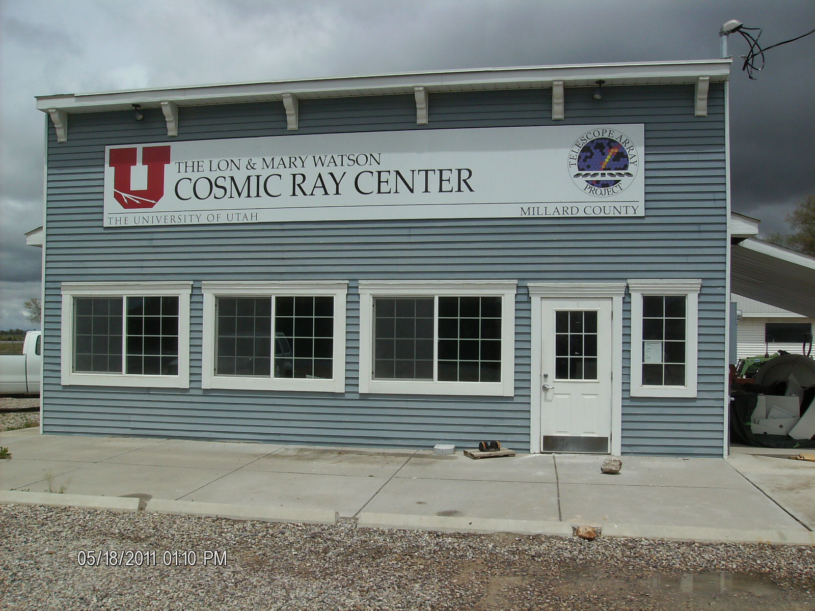 The University of Utah is opening a new Millard County Cosmic Ray Visitor Center in Delta, Utah, inside the existing Lon and Mary Watson Cosmic Ray Center, which is the hub of operations for the nearby Telescope Array, a cosmic ray observatory spread across the desert west of delta.