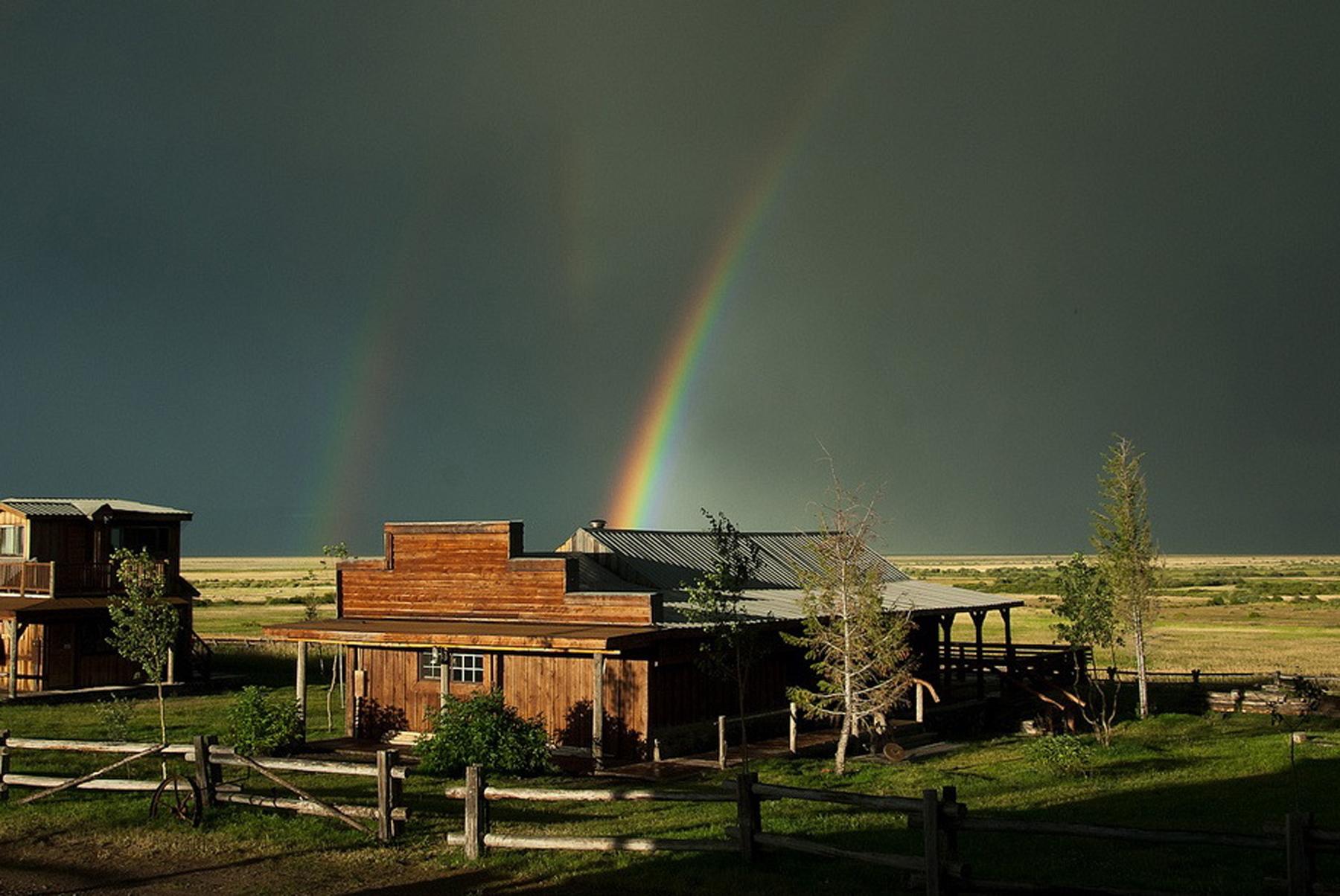 EHEC Evening rainbow at the Center.
