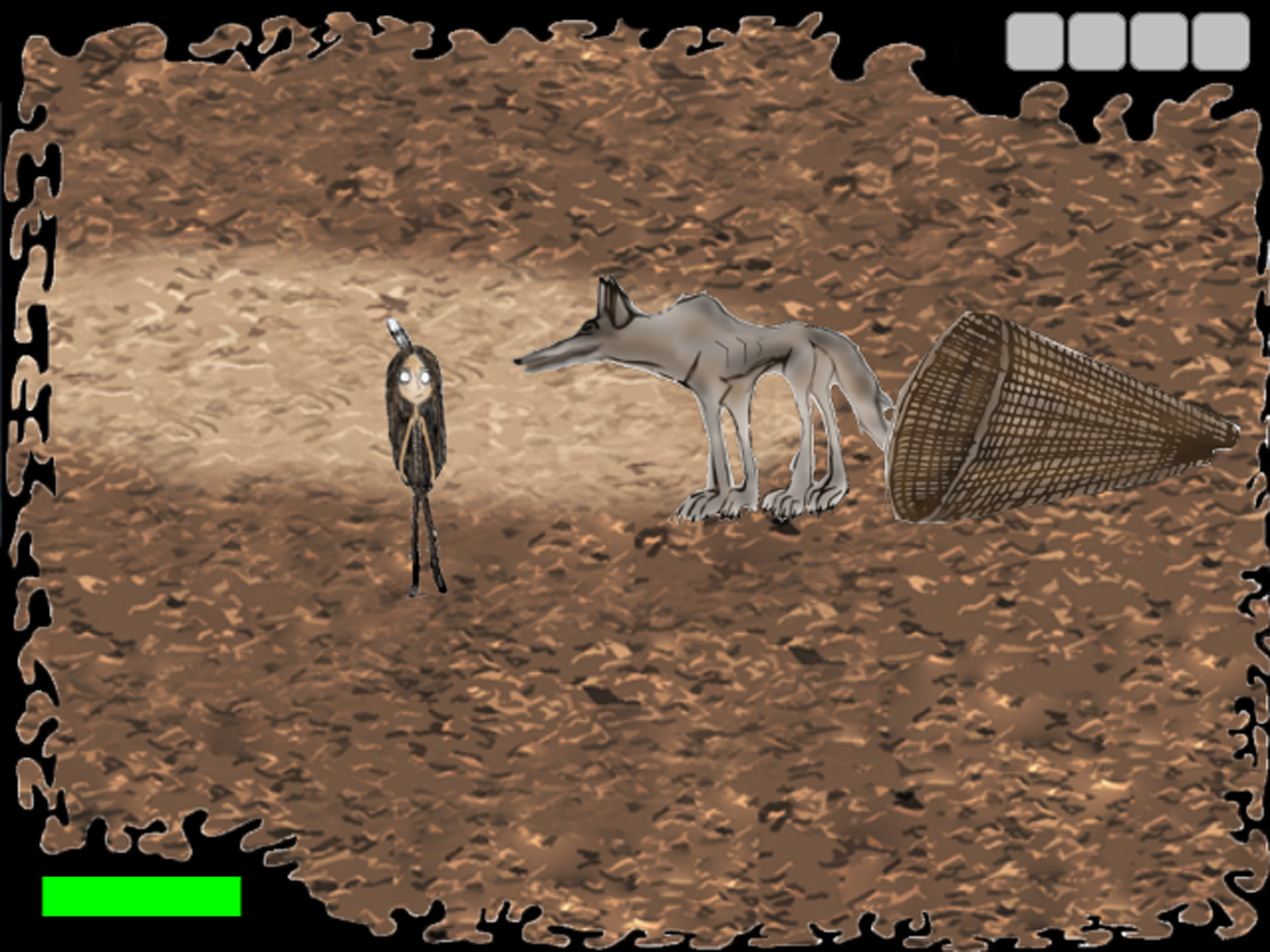 """Screenshot of """"Enee"""" the first video game in the Shoshone Language."""
