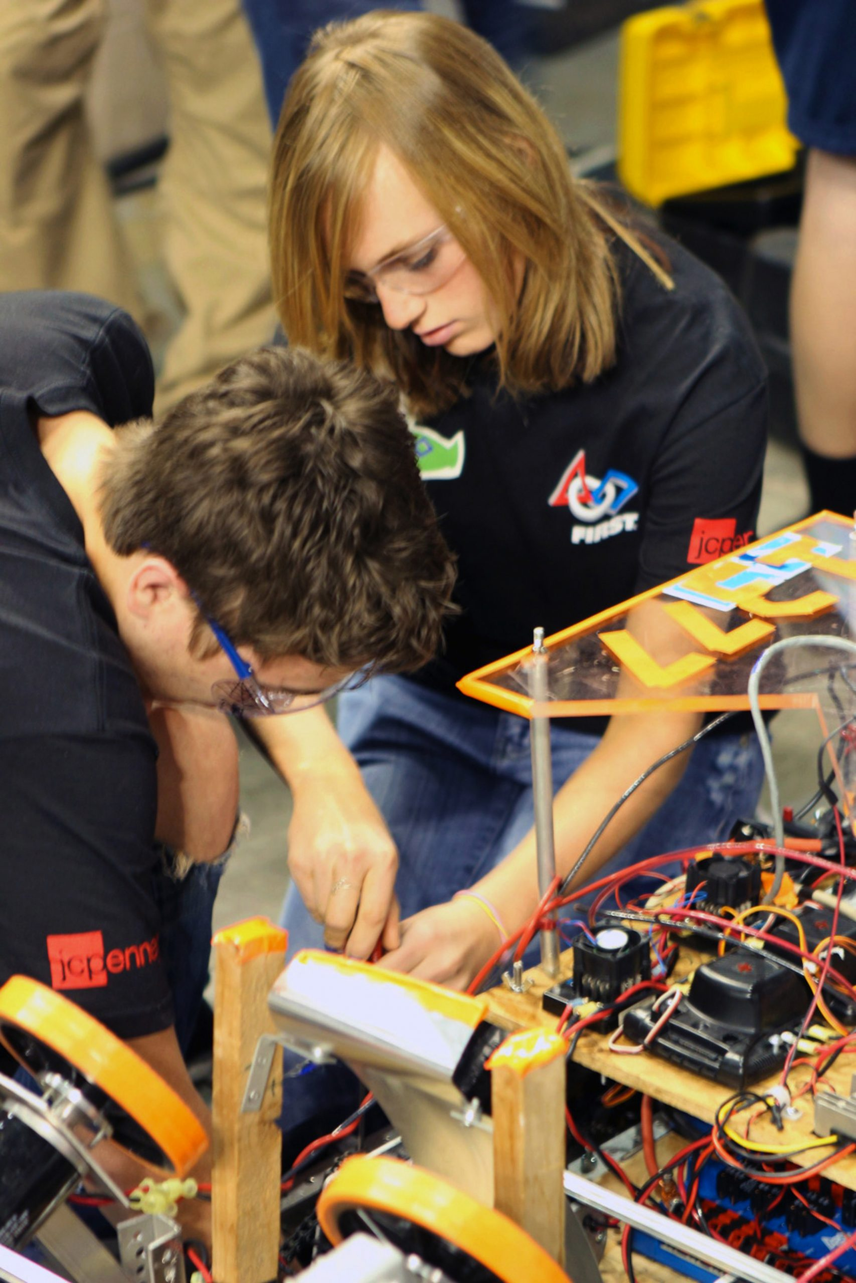 Utah high school students are shown here during a 2012 robotics competition. The 2013 competition kicks off Saturday, Jan. 5 at Hunter High School in West Valley City, Utah. It is co-sponsored by the University of Utah and is among more than 80 such events in the United States and four other countries as part of the For Inspiration and Recognition of Science and Technology -- or FIRST -- Robotics Competition that involves 2,550 teams and 52,000 high school students. Twenty teams of Utah high school students will design and build robots during the event.