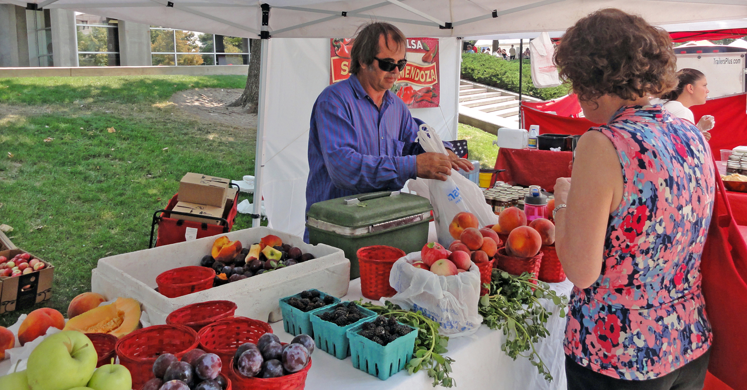 The seventh annual University of Utah Farmers Market starts Thursday, Aug. 28, 10 a.m. to 2 p.m. on the Tanner Plaza. A new student-funded program called Double Your Dollars will make each dollar stretch a little further for students and customers using food stamps.