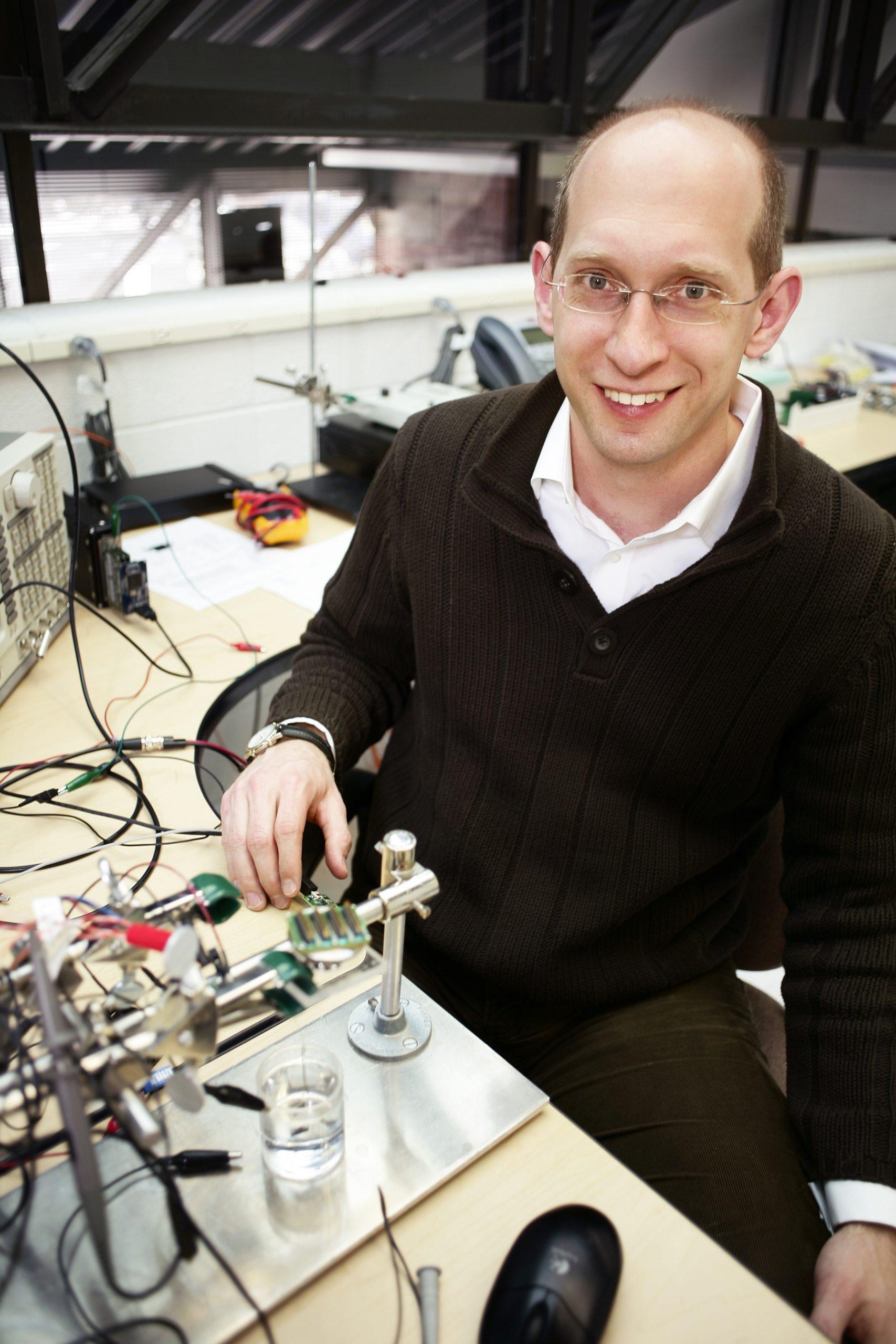 Winner of the 2012 Innovation and Impact Award, Florian Solzbacher.