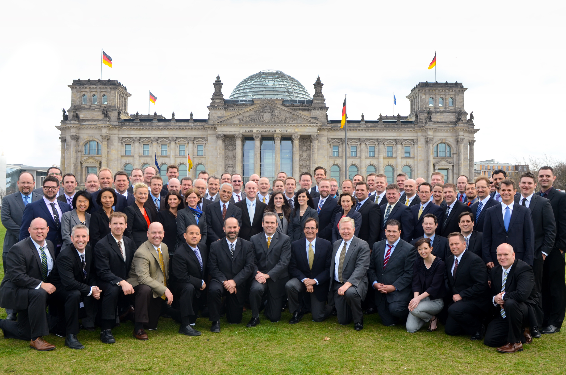 Executive MBA students on trip to Berlin.