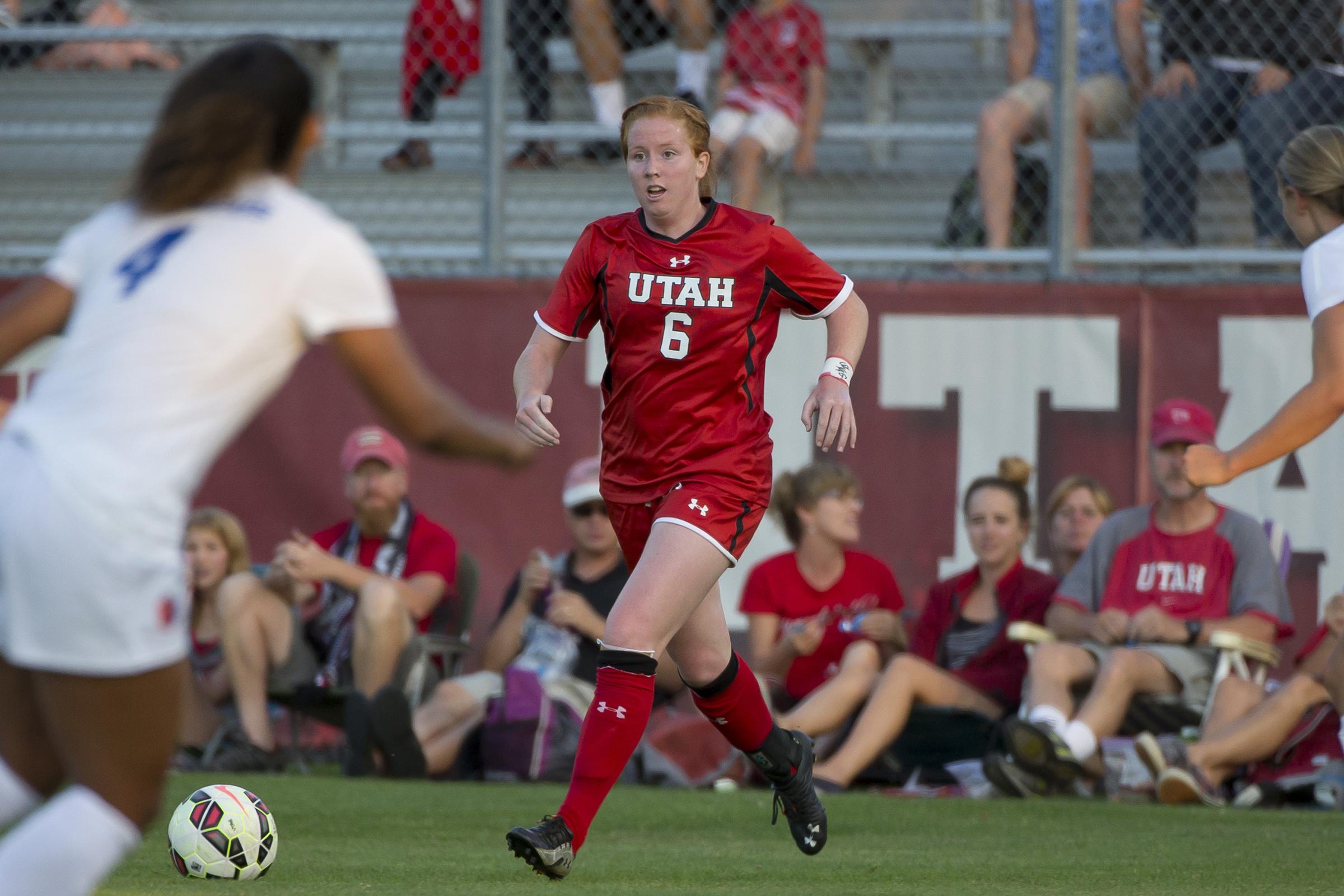 Ashton Hall, University of Utah soccer team.