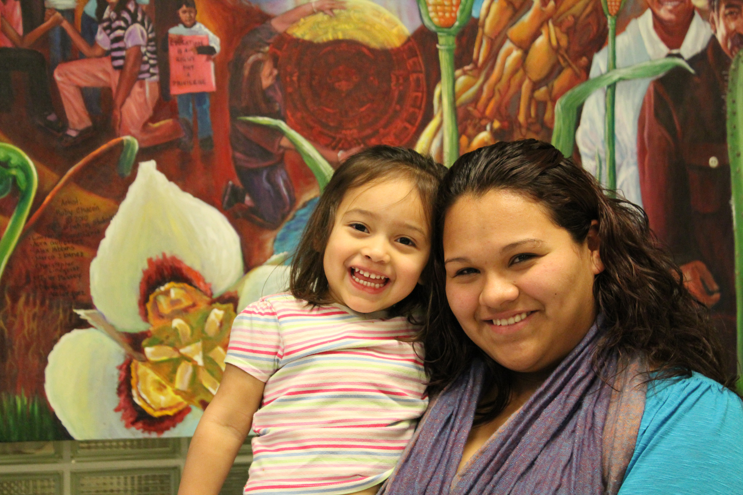 Pregnant at age 15, Aura credits her participation in Latinas Adelante with changing her life for the better.