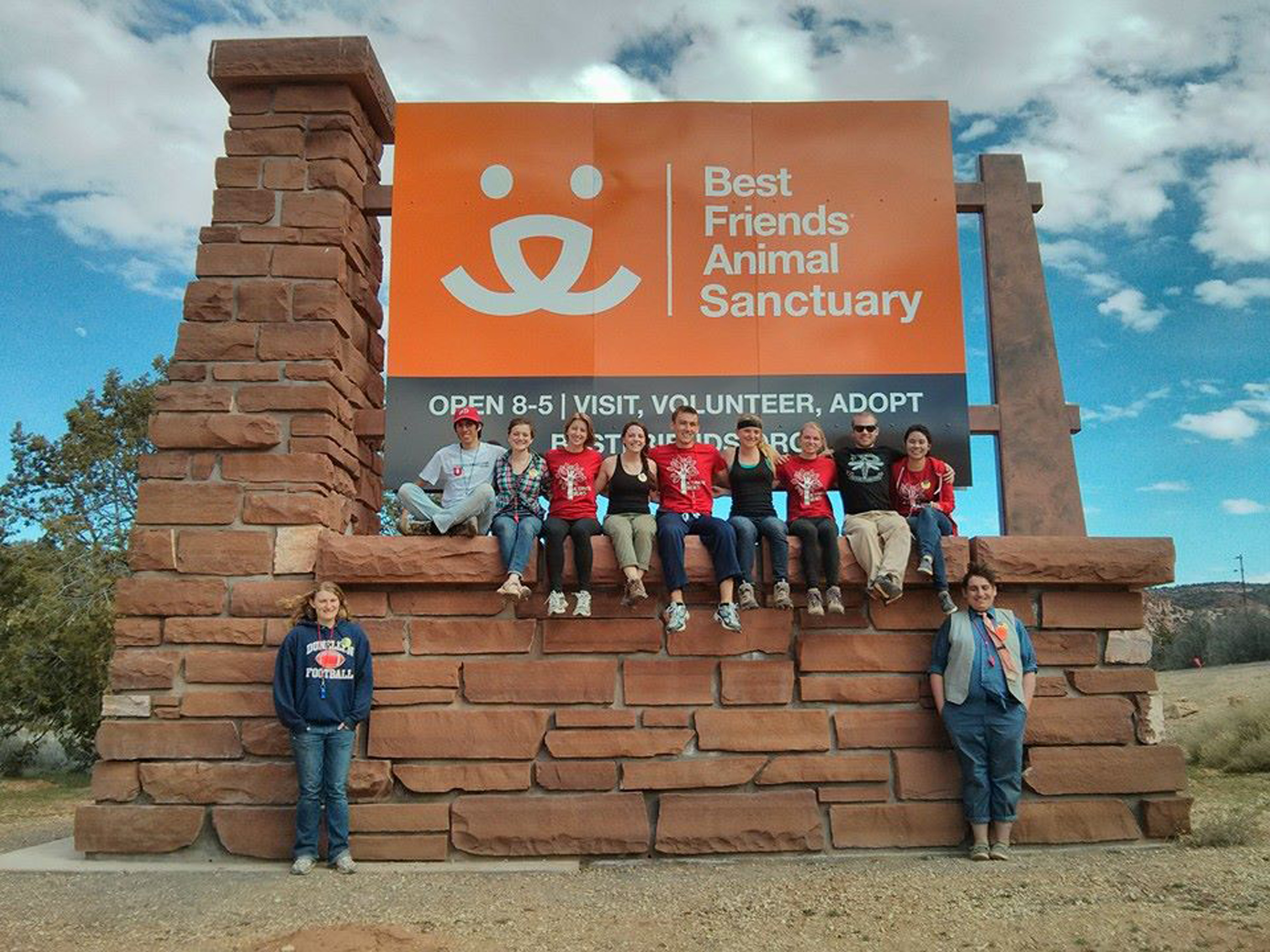Alternative Break trips travel to the western US and Canada, including within Utah. Students on the Kanab trip spend the week learning and volunteering at Best Friends Animal Sanctuary.