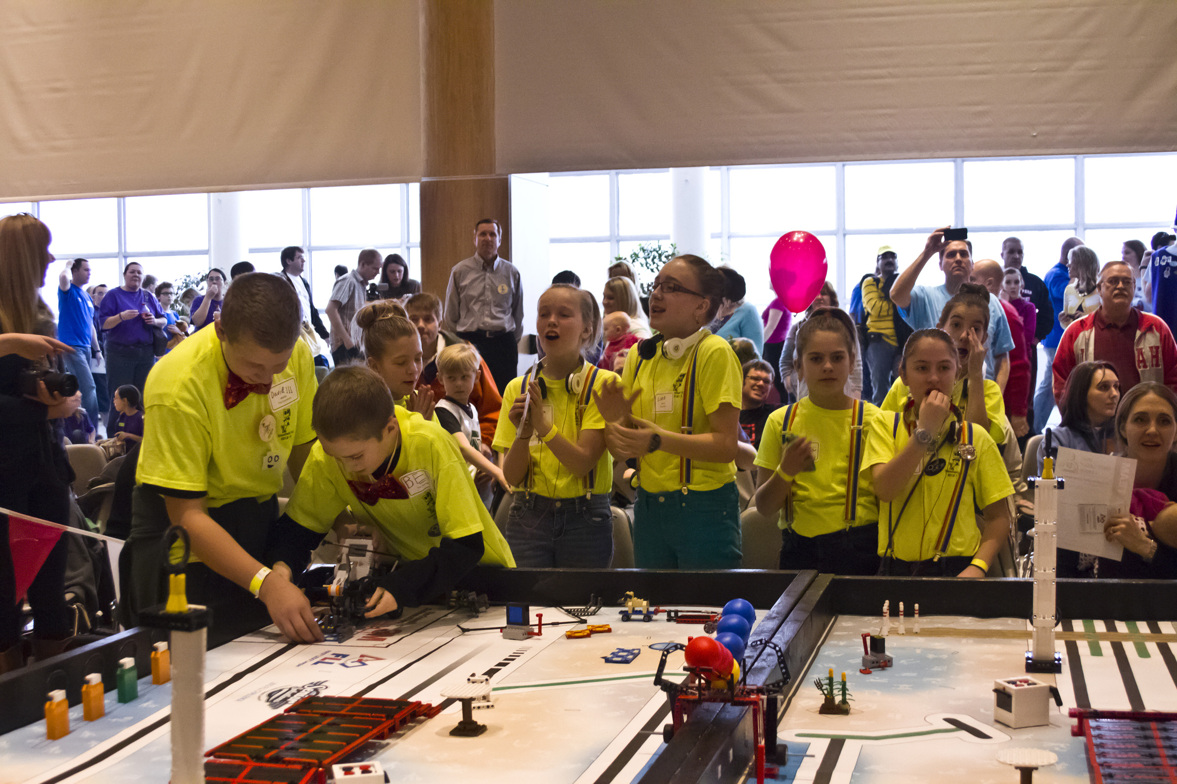Students compete at the 2012 Utah FIRST LEGO League State Championship.