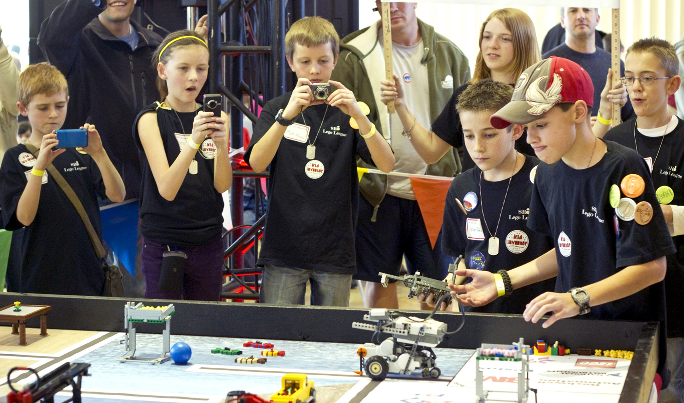 Kids take part in Utah FIRST LEGO league competition.