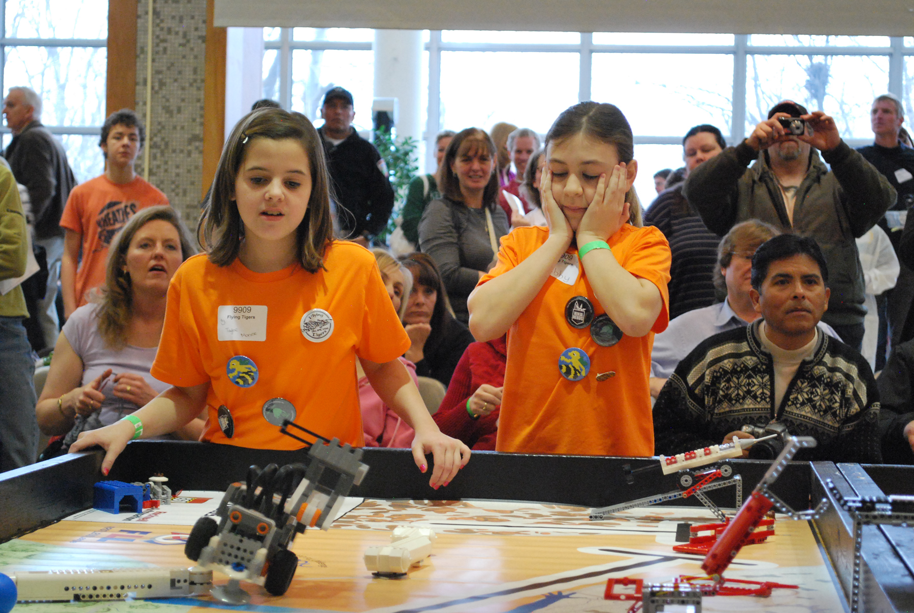Middle school students compete at the U in the FIRST LEGO League Championship.