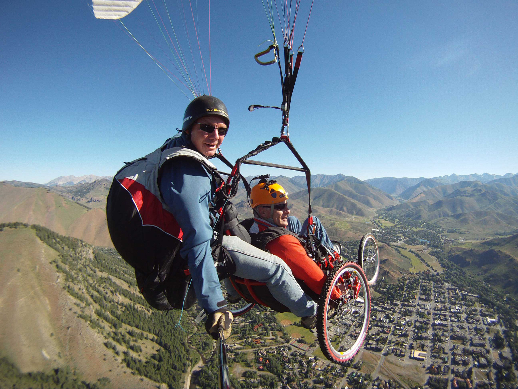 The Ergonomics and Safety Program in the Department of Mechanical Engineering at the University of Utah developed a paraglider than can be used by parapalegics.