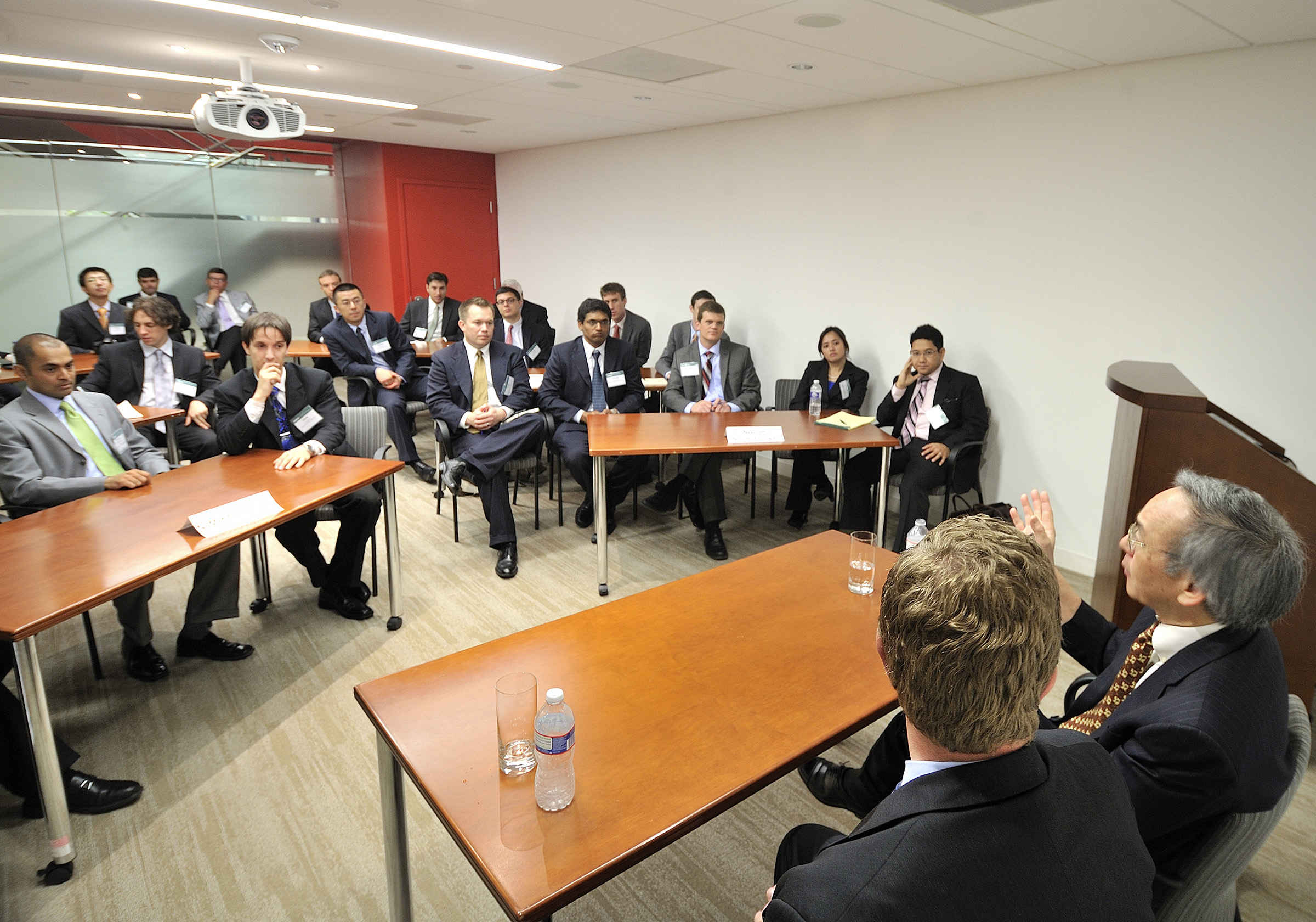 Students at the David Eccles School of Business have numerous opportunities to get involved with entrepreneurship. Picture are MBA students attending a panel discussion led by U.S. Secretary of Energy Steven Chu in Washington, D.C.