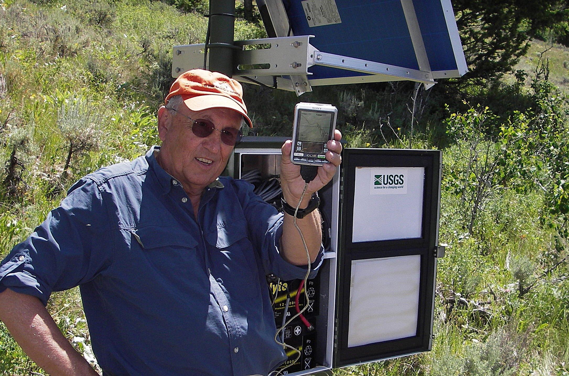 University of Utah geophysicist Robert Smith in the field.