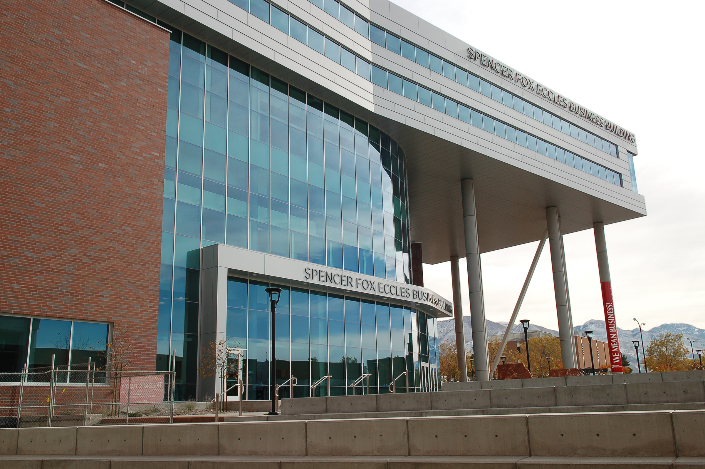 The Spencer Fox Eccles Business building is the newest building at the University of Utah's David Eccles School of Business.