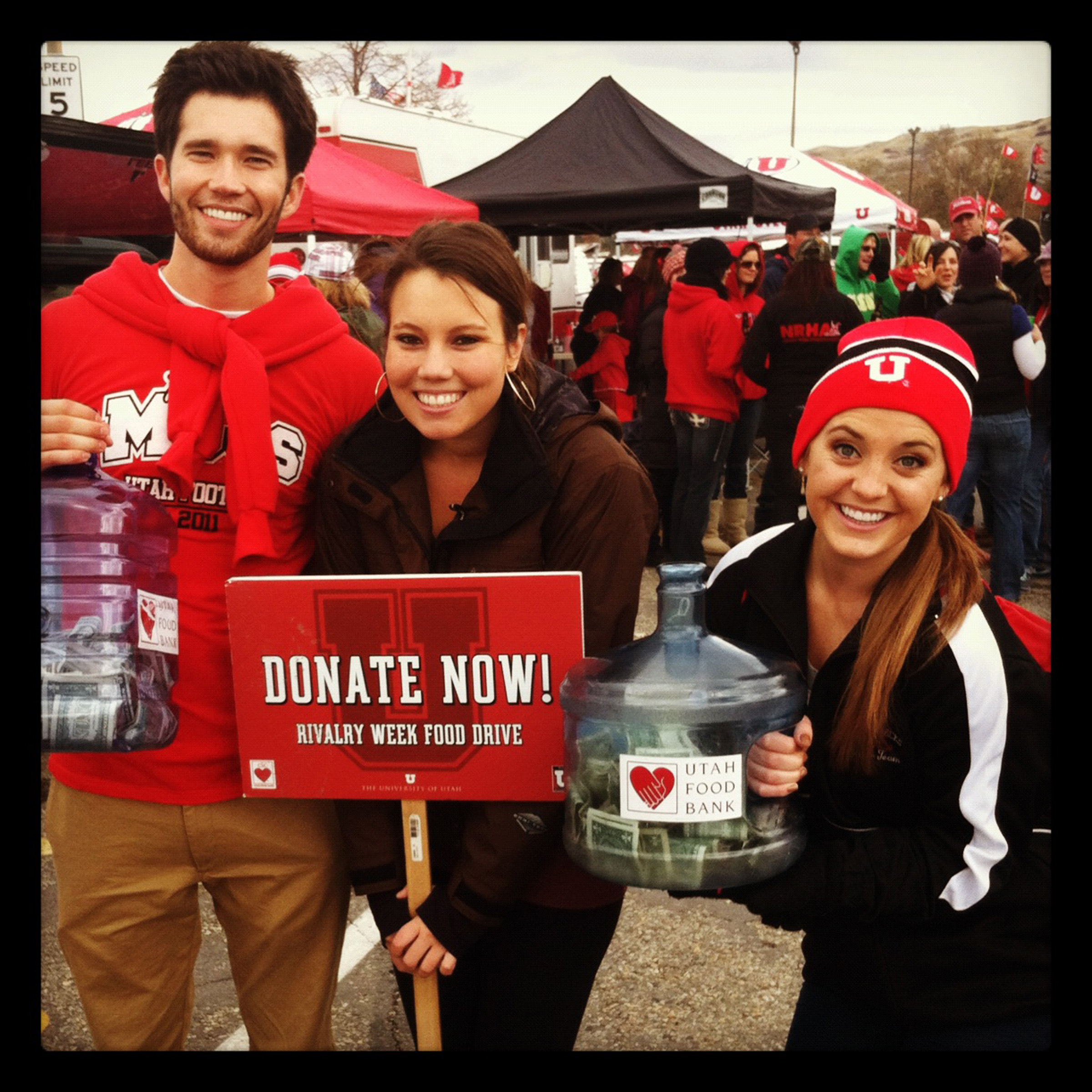 U students collecting donations in 2011.