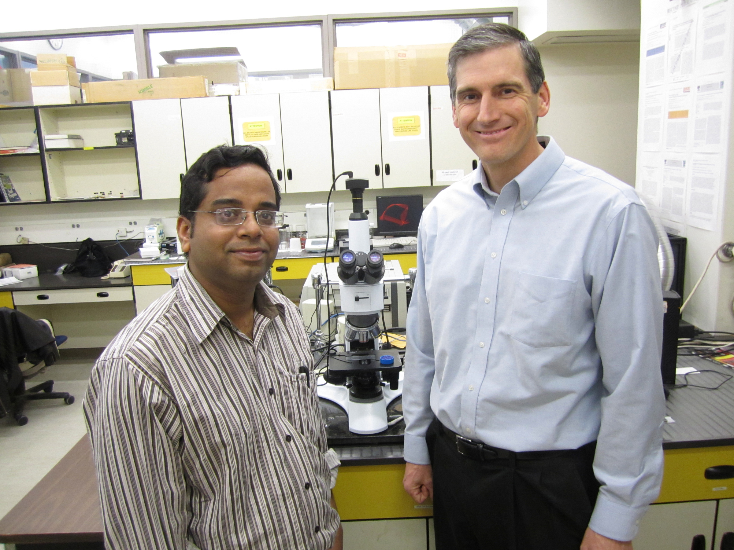 University of Utah metallurgical engineers Prashant Sarswat and Michael Free used an old office microwave oven to produce a nanocrystal semiconductor named CZTS that is made from cheaper, less toxic materials than other semiconductors and holds promise for more efficient solar power cells and lighting by LEDs, or light-emitting diodes, as well as sensors for medical tests and systems to convert waste heat to electricity.