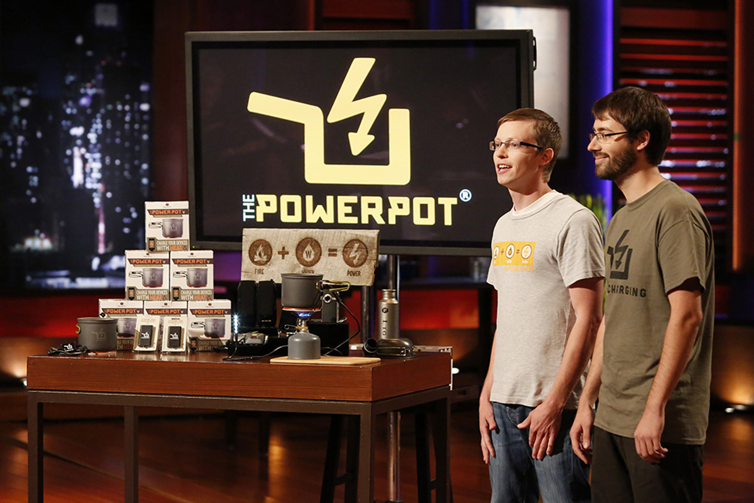 """Caleb Light, VP of Sales for Power Practical and founder David Toledo present on ABC's """"Shark Tank"""""""
