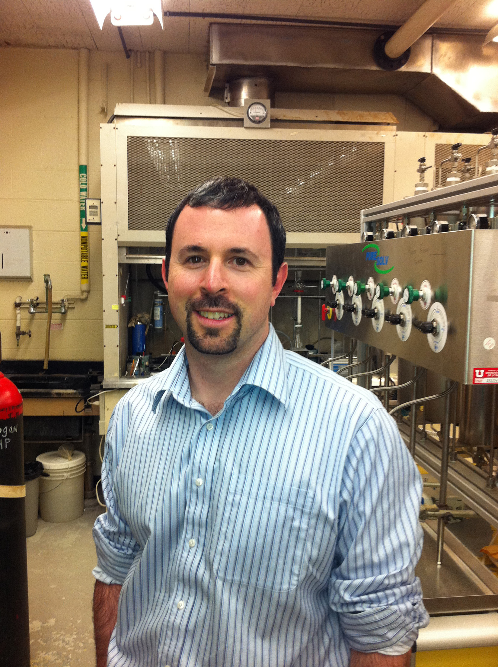 University of Utah chemistry Professor Matt Sigman (shown here) and graduate student Kaid Harper have published a study in the journal Science showing how they developed a new technique for designing and testing catalysts, which are chemicals used to speed chemical reactions crucial for energy production, chemical manufacturing and many other industrial processes.