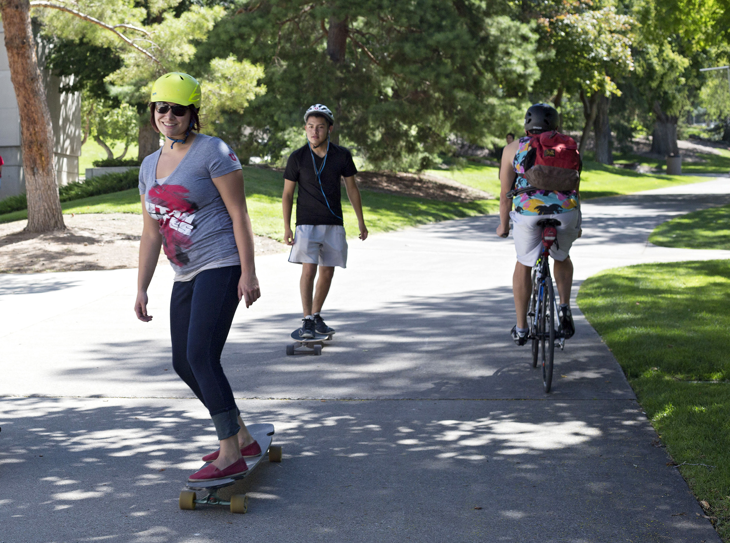 Safety personnel educated or warned more than 500 cyclists and skateboarders on campus last month alone. This was part of the university's SAFE (Sidewalks are for Everyone) campaign, which was instituted after the U's sidewalk policy was updated in August to enhance safety for pedestrians across campus.