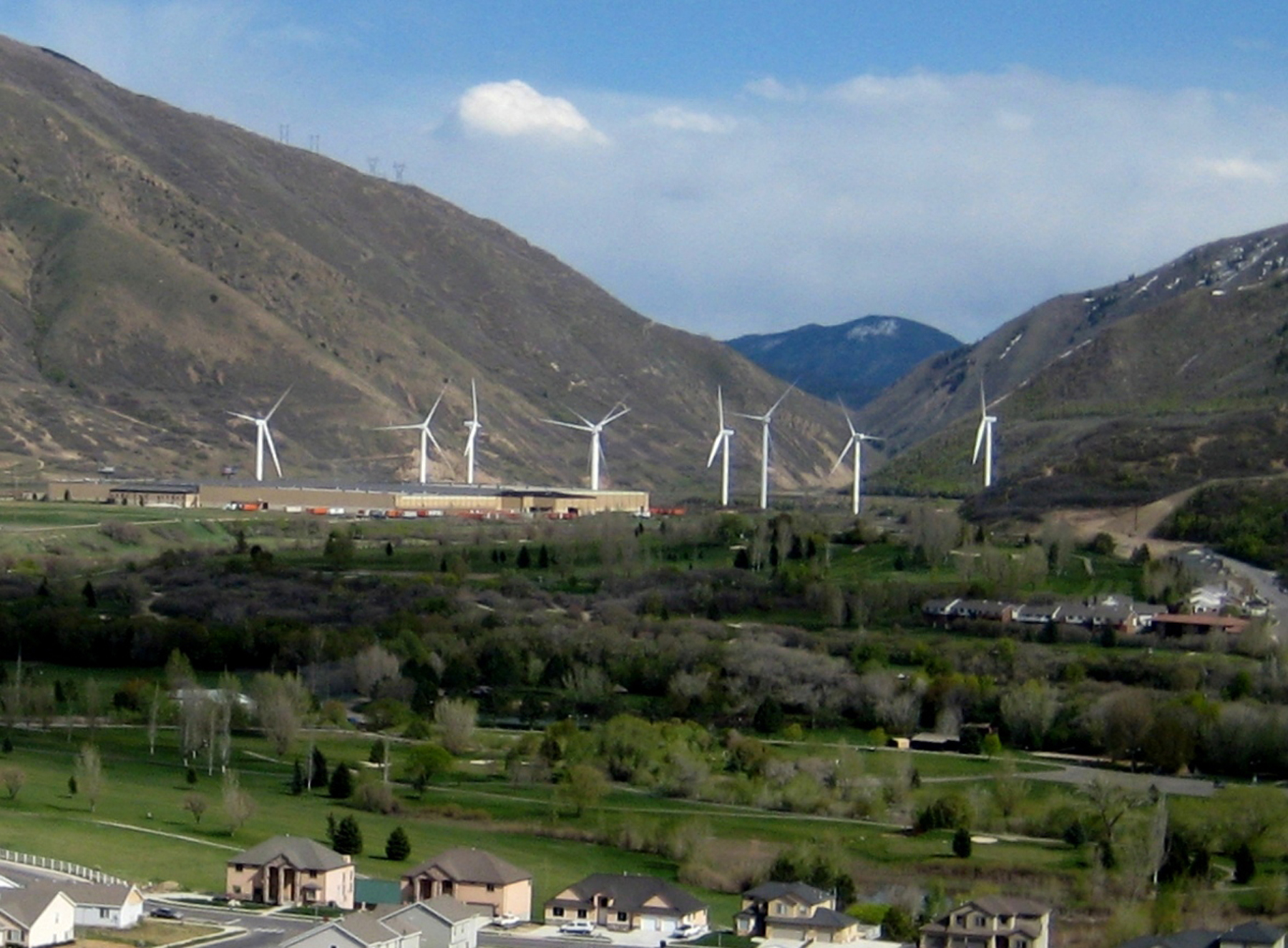 An example of the U utilizing renewable energy sources, like this wind farm in Spanish Fork, UT.