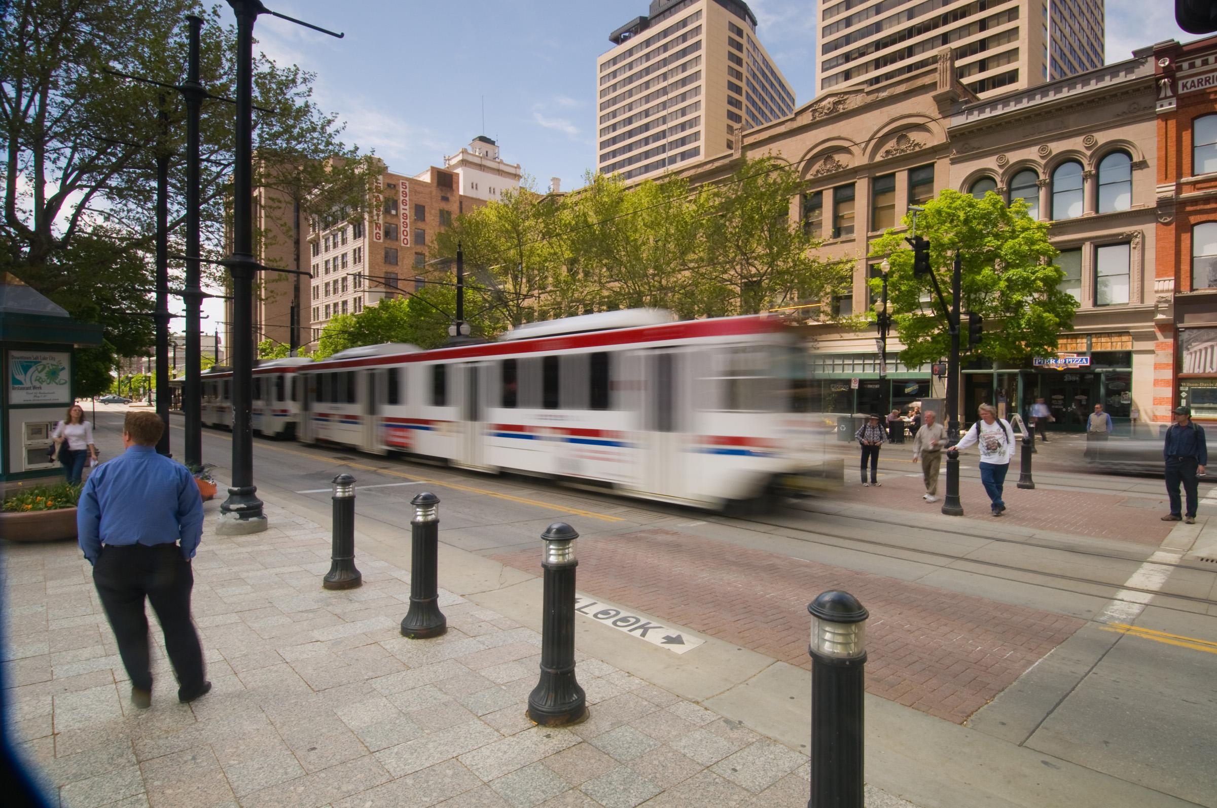 Downtown Salt Lake City, Utah.