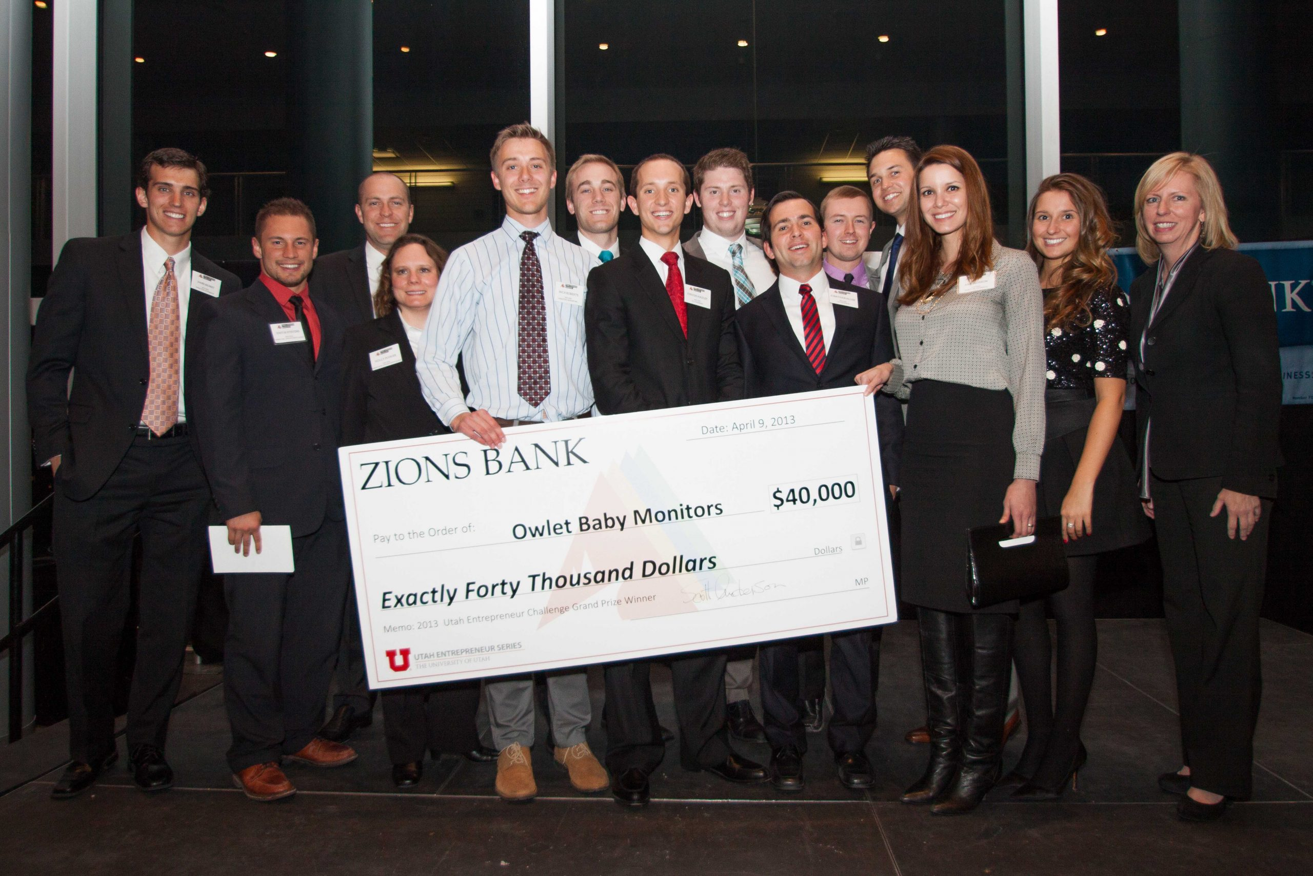 Last year, BYU students won the Utah Entrepreneur Challenge grand prize with their business plan for Owlet Baby Monitors.