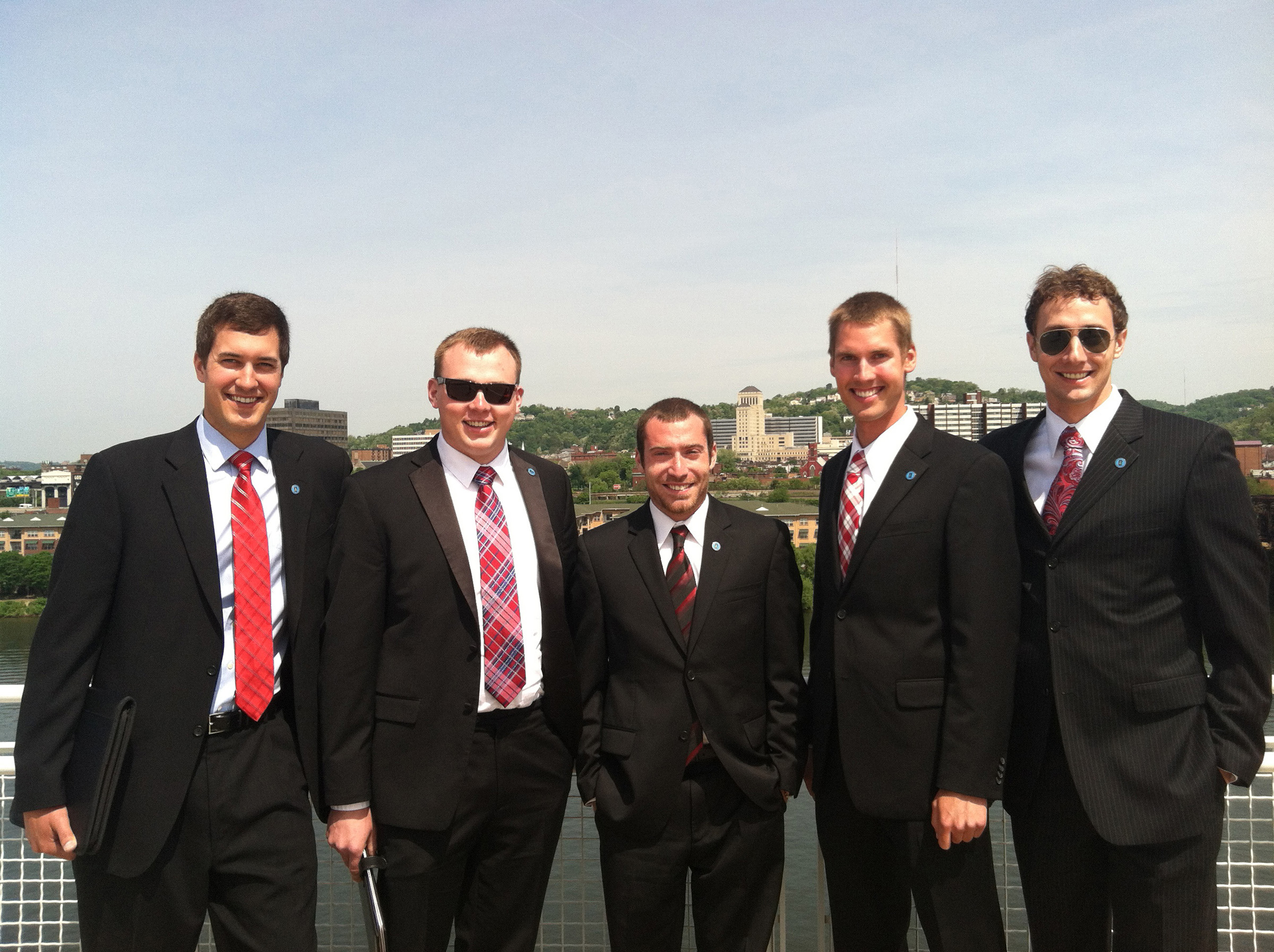 Members of the University of Utah geology and geophysics team won the $20,000 Imperial Barrel Award on May 19 in Pittsburgh during the annual convention of the American Association of Petroleum Geologists. From left to right, team members are graduate students Alexandre Turner, Marko Gorenc, Morgan Rosenberg, Tyler Szwarc and Mason Edwards.