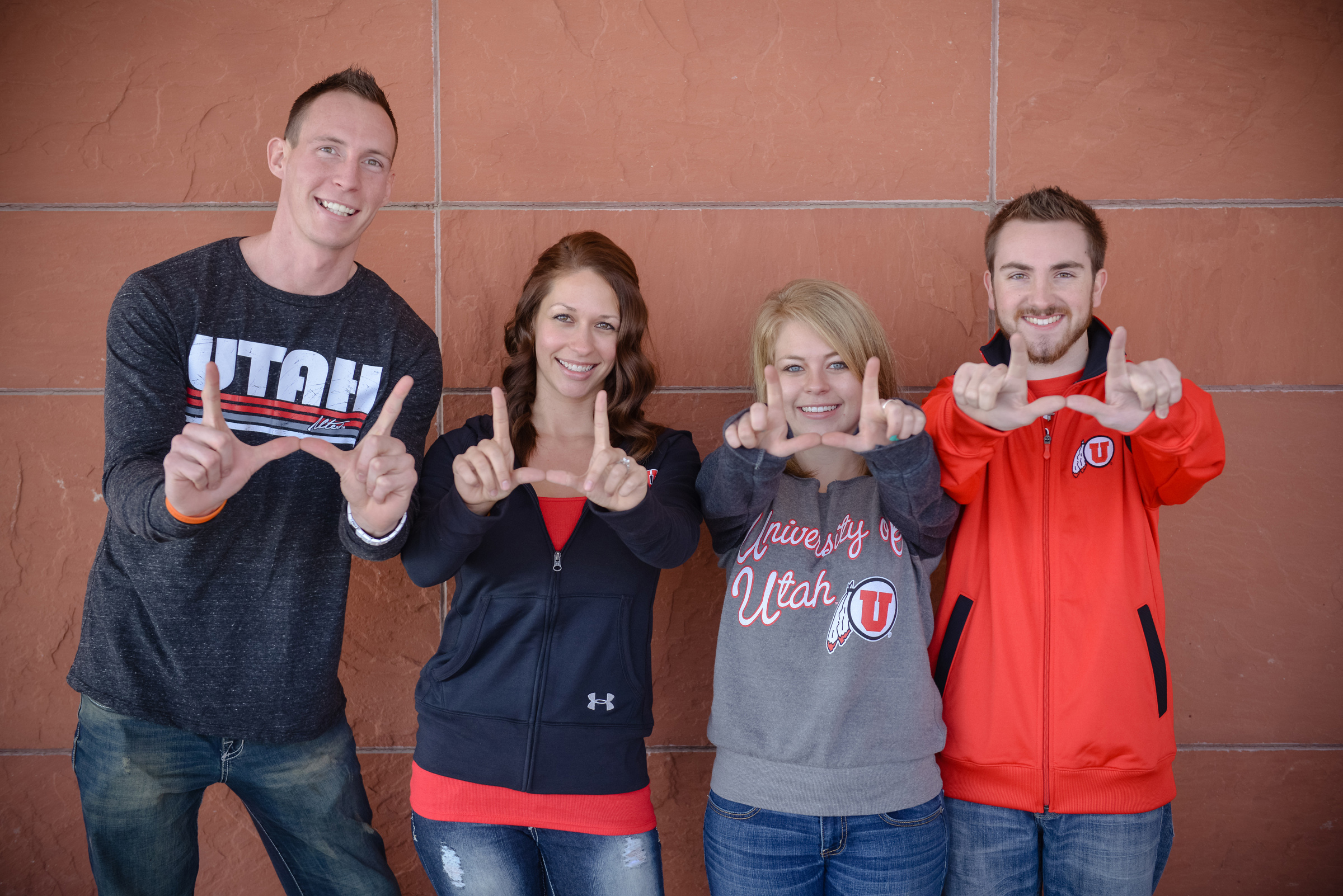 Jordan and Alexandria (left) and Ashley and Colton are the finalists for the 2014 Ultimate Utah Wedding. The winning couple will be married on March 8 at the Rice-Eccles Stadium. The public participates in planning their wedding by voting on everything from the dress to the cake.
