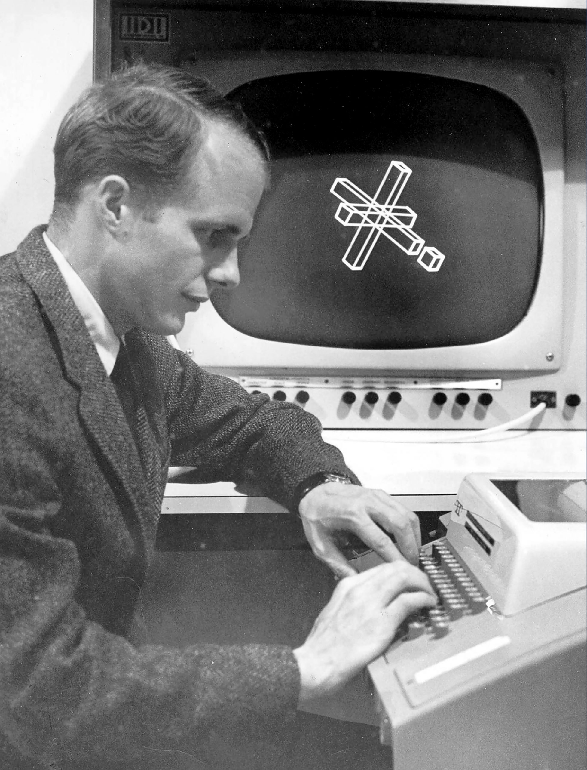 John W. Warnock, the founder of Adobe Systems, is seen here in a 1968 photo. Warnock received his PhD from the University of Utah's computer science department in 1969.