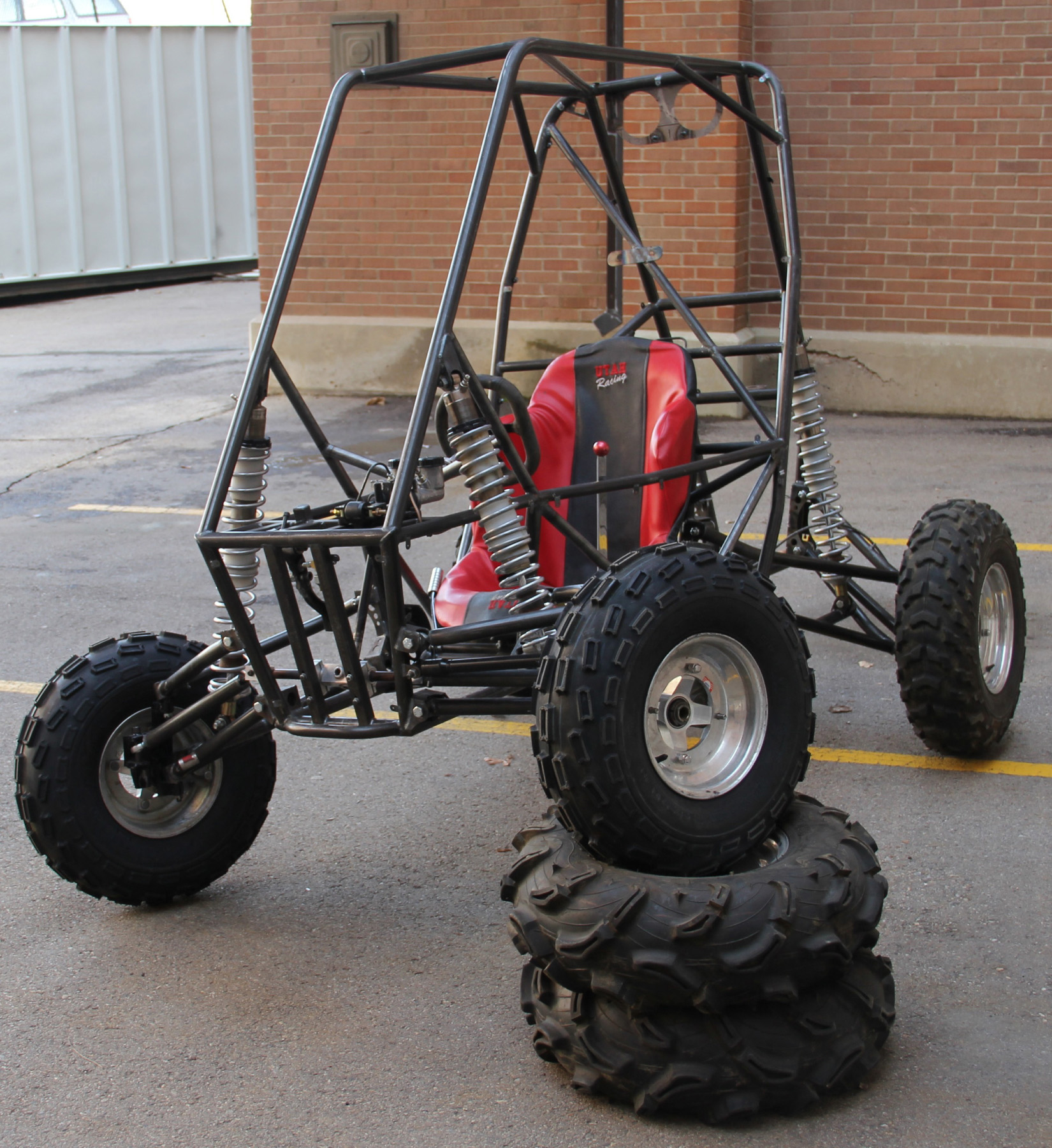 The U of U Department of Mechanical Engineering will hold its 14th annual  Design Day showcase on Tuesday April 19 in the Olpin Student Union. The event is open to the public, who will have an opportunity to attend three different competitions and even try out this vehicle built by SAE Baja 2011.