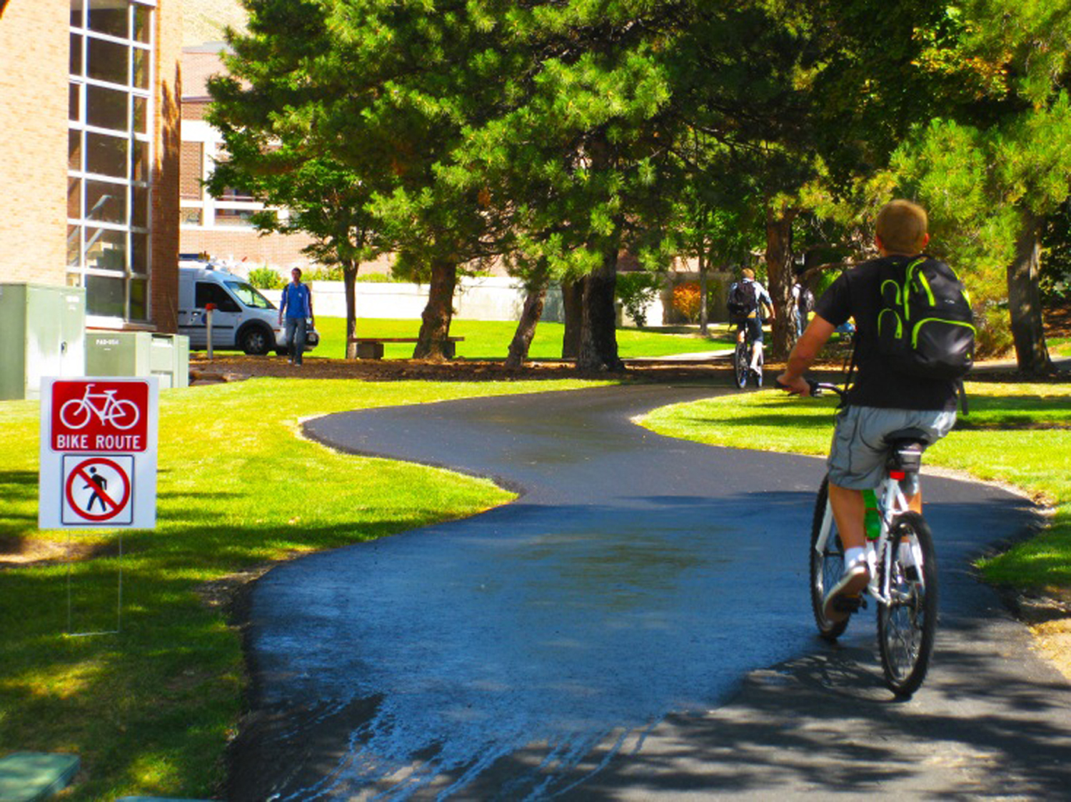 New bicycle routes at the University of Utah.