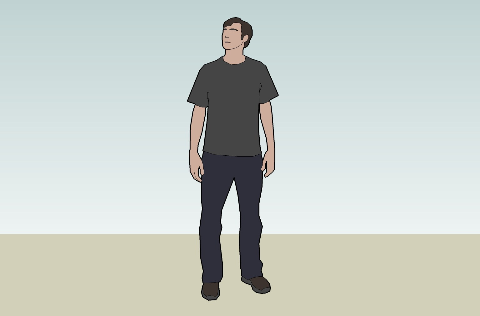 This image is one example of the ways in which SketchUp can be used to design people, places and spaces.  The University of Utah, Google and Universal Studios Creative will host a free workshop and tutorial on the SketchUp software for parents and teachers of children with autistic characteristics.