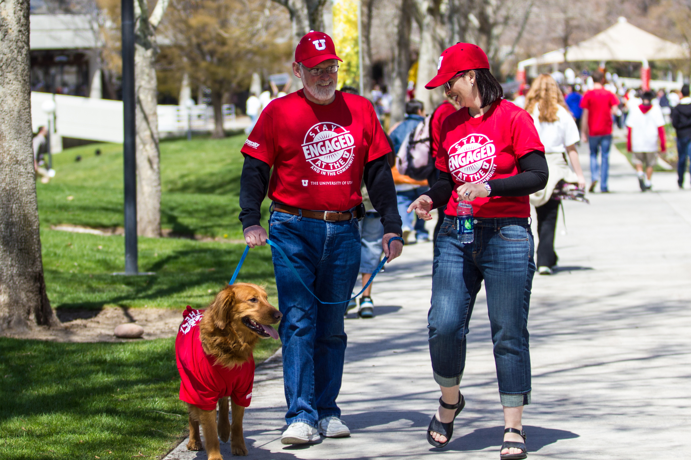 President Pershing participates in the 2013 walk-a-thon