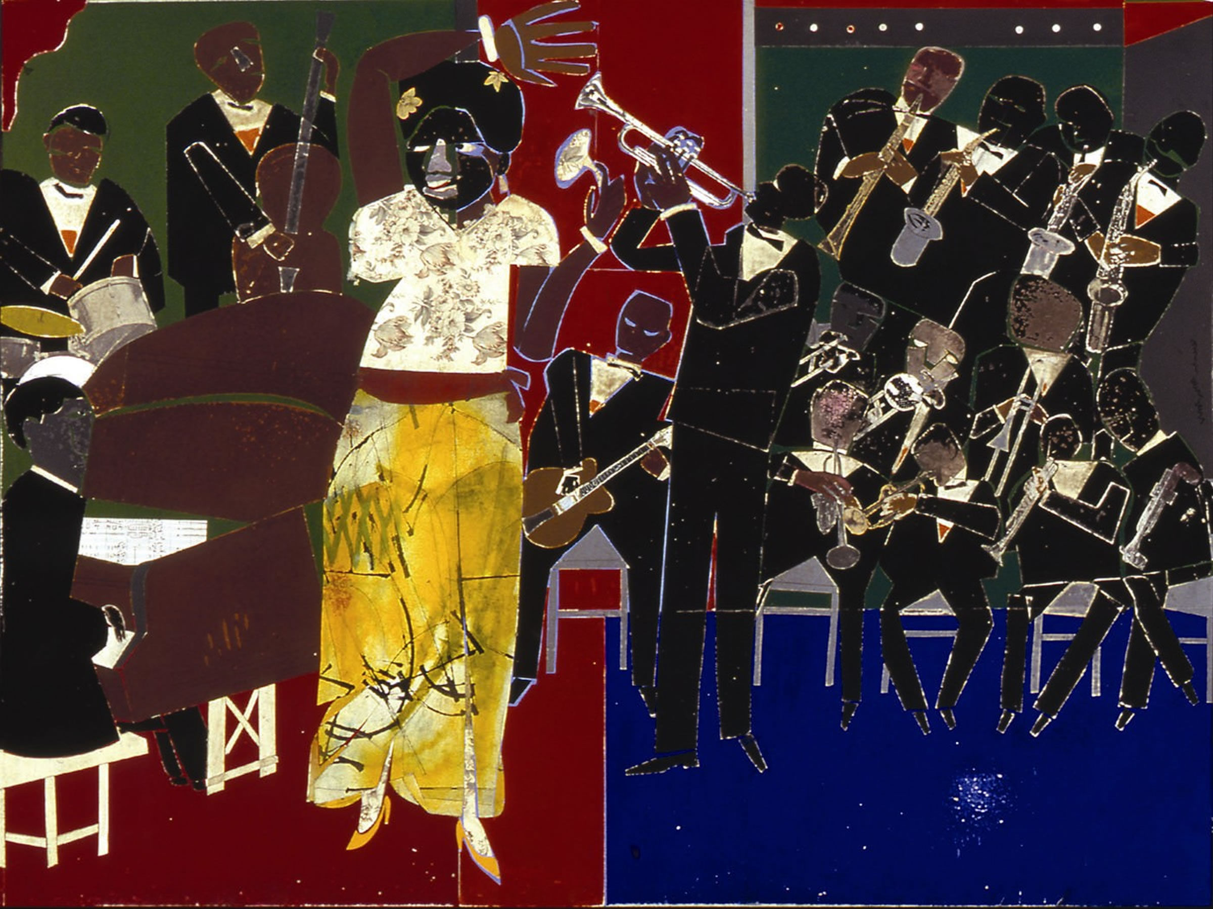 """""""Empress of the Blues,"""" by Romare Bearden"""