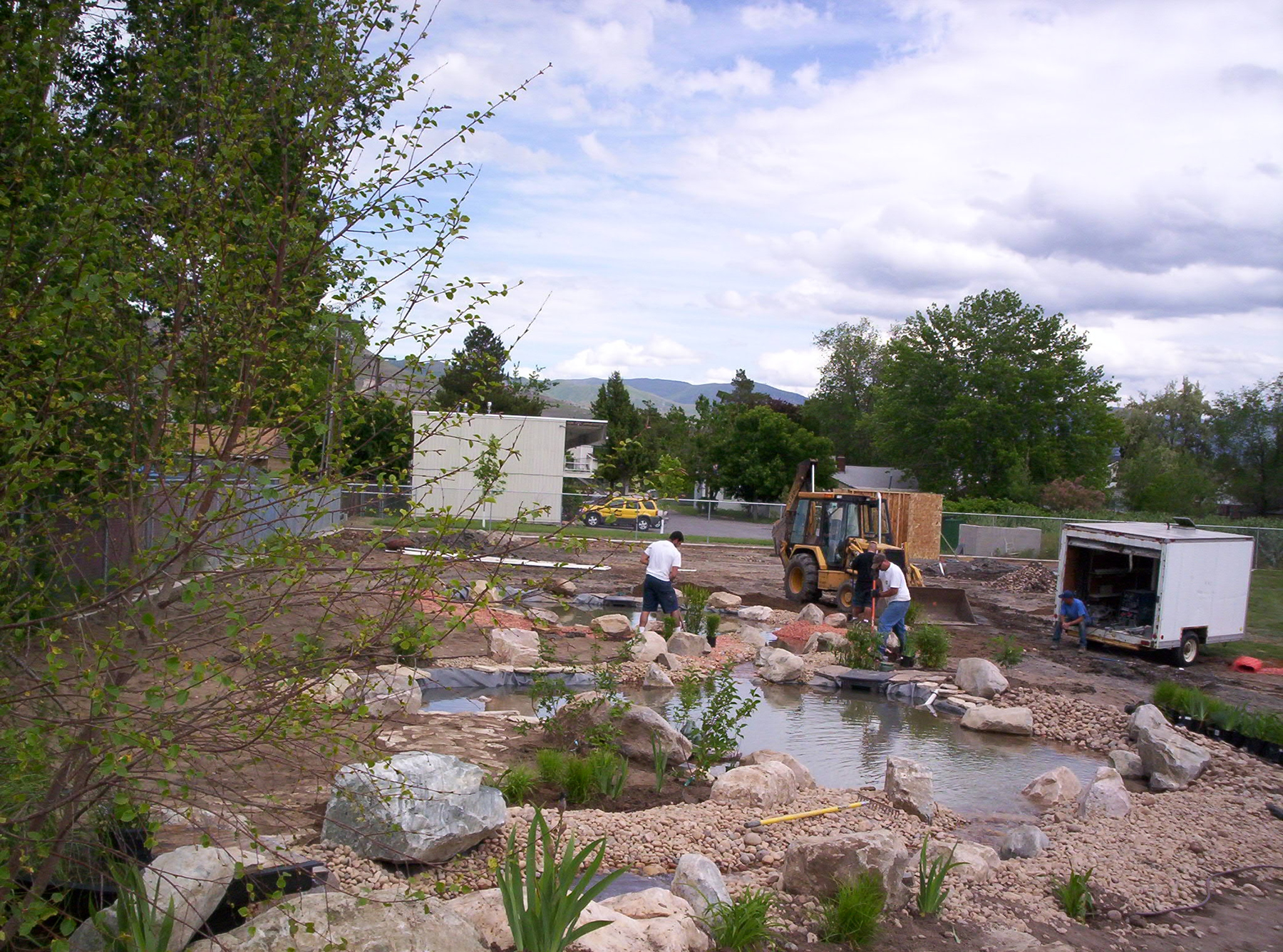 A threatened Utah fish -- the least chub -- will be introduced to these ponds at a recently constructed wetland at Salt Lake City's Escalante Elementary School. It is part of a University of Utah program that puts science graduate students into public schools to work with teachers in inspiring students to feel wonder and passion about nature.