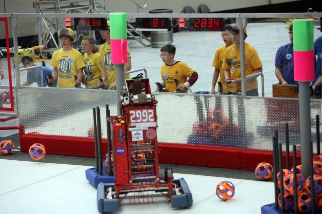 The FIRST Robotics Competition will be held at the University of Utah's Huntsman Center March 18-20.