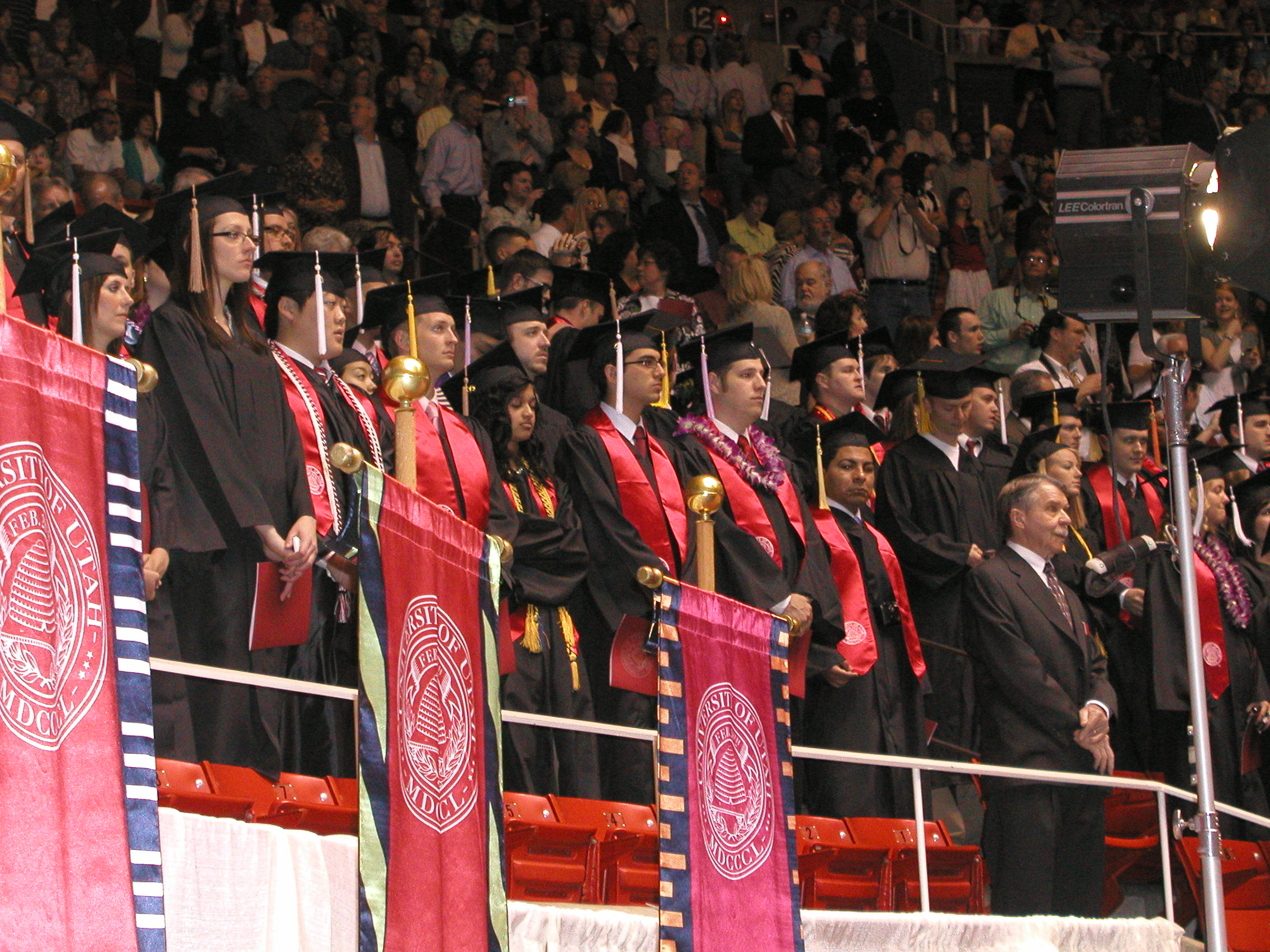 University of Utah students attend the 2009 Commencement ceremony.