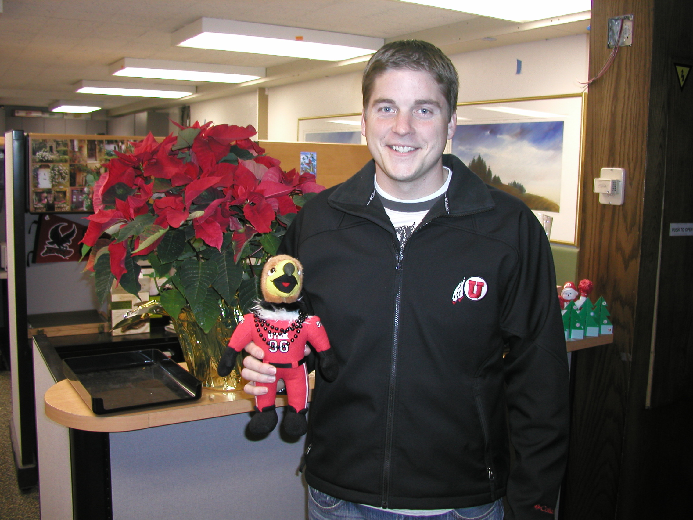 U MUSS Officer Jonathan Bowen and his sidekick Lil' Swoop will blog about their trip to see the Utes in the Sugar Bowl.