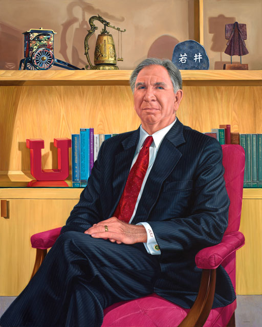 Tom Hoffman's Portrait of President Michael K. Young