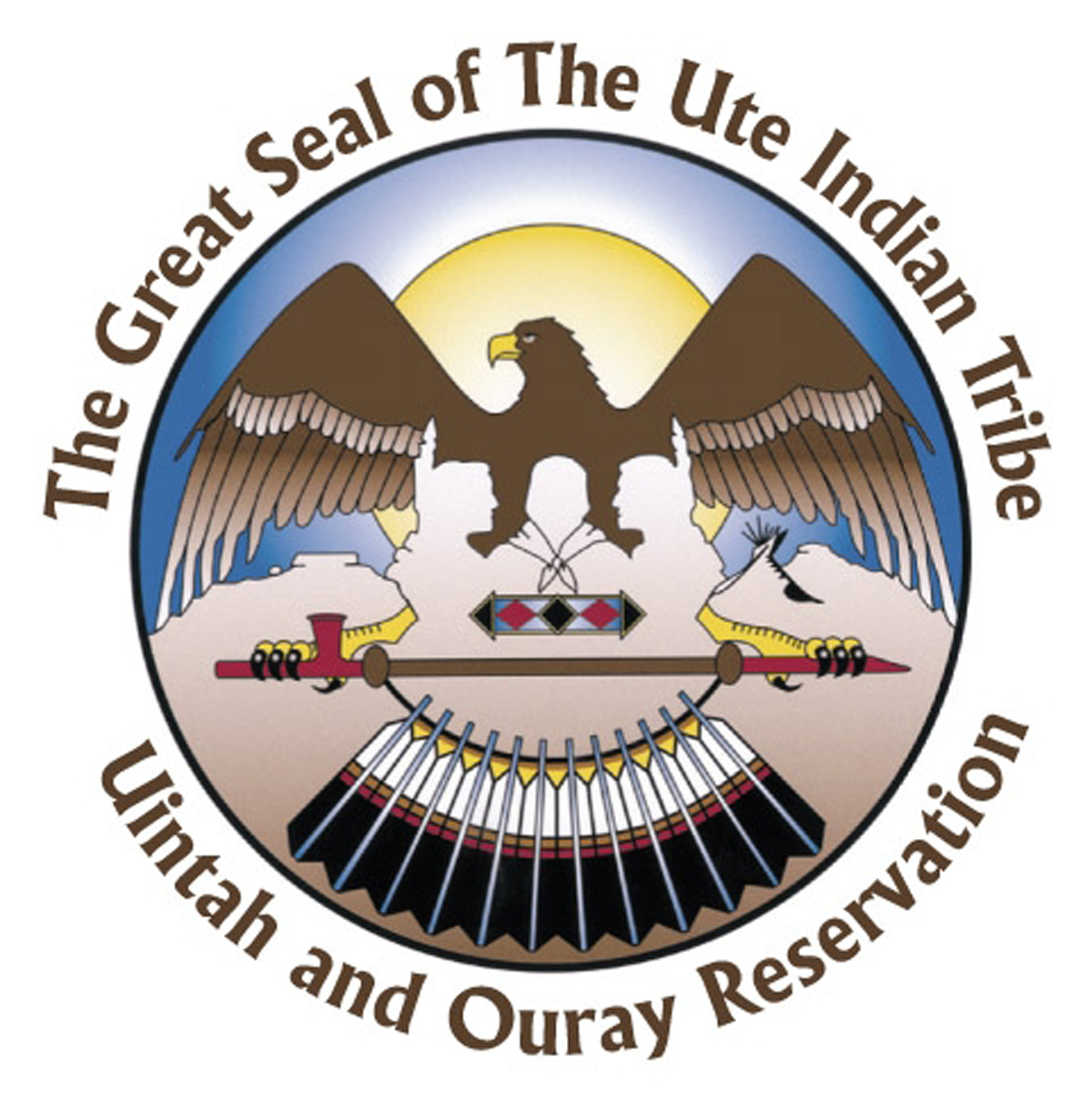 The Great Seal of The Ute Indian Tribe.