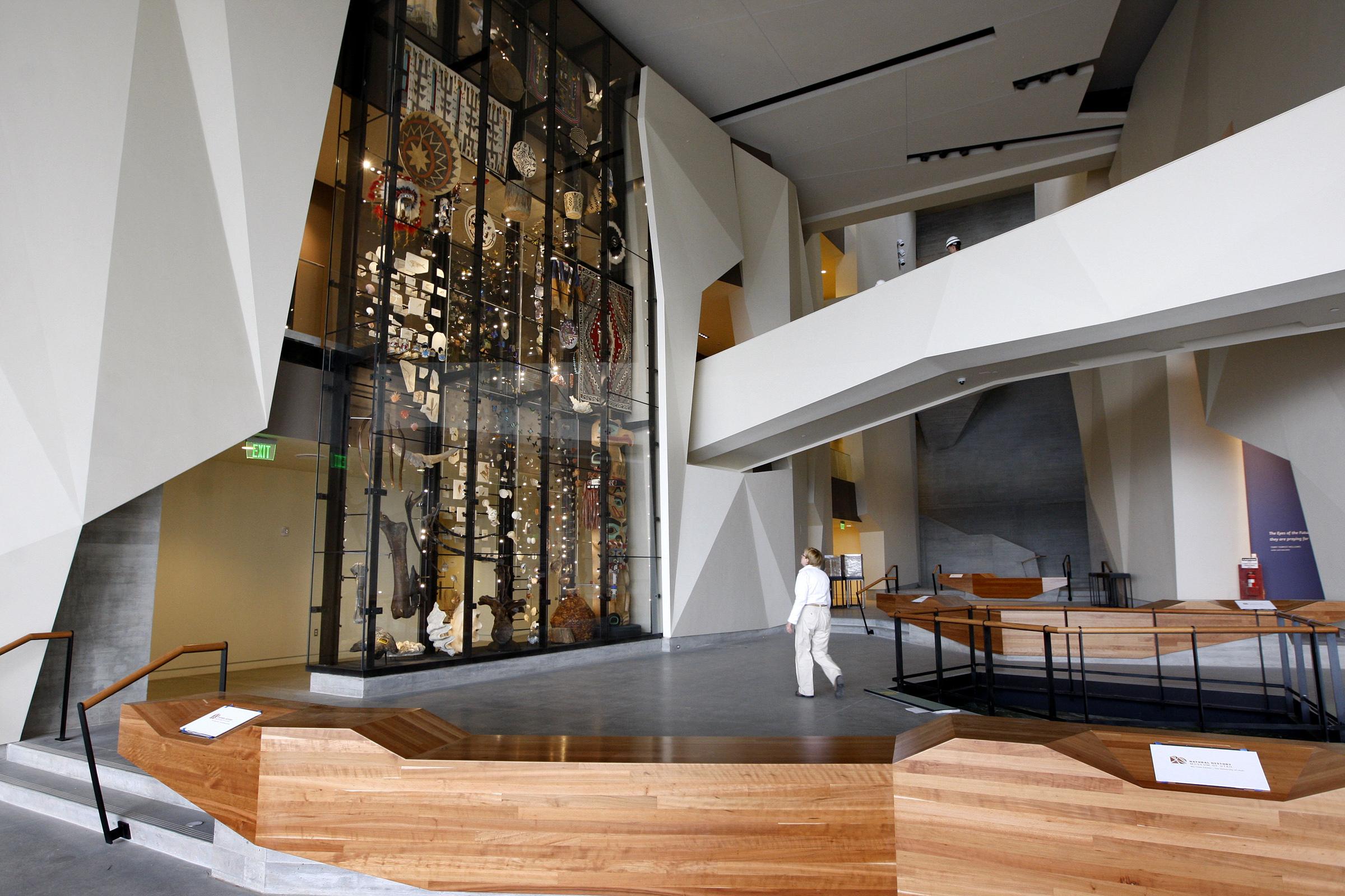 Main lobby at the Natural History Museum of Utah.